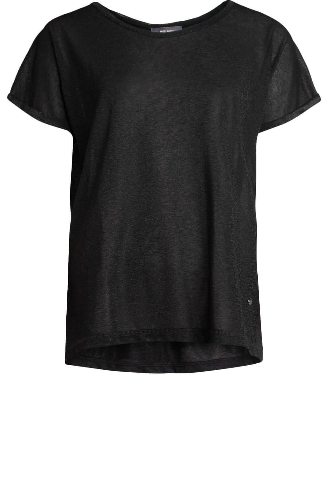 Mos Mosh Dames Kay glitter shirt zwart