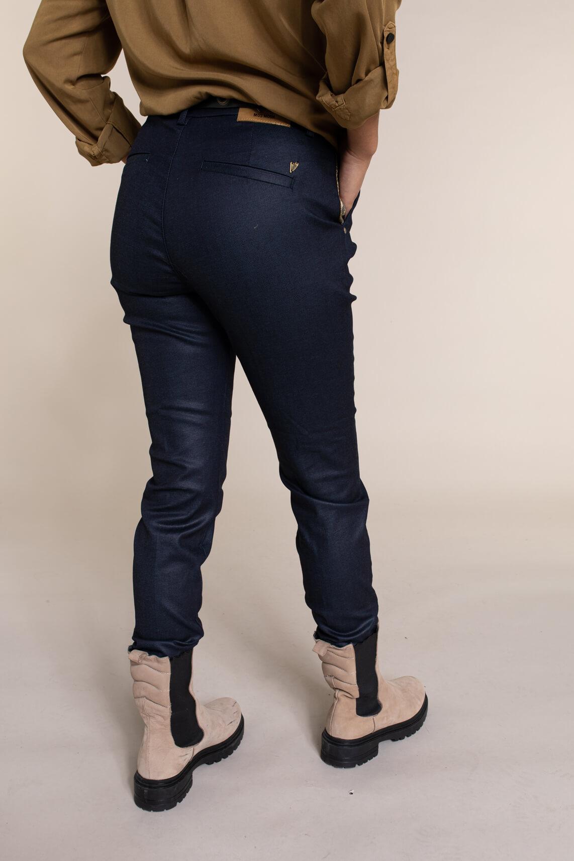 Mos Mosh Dames Blake gecoate jeans Blauw