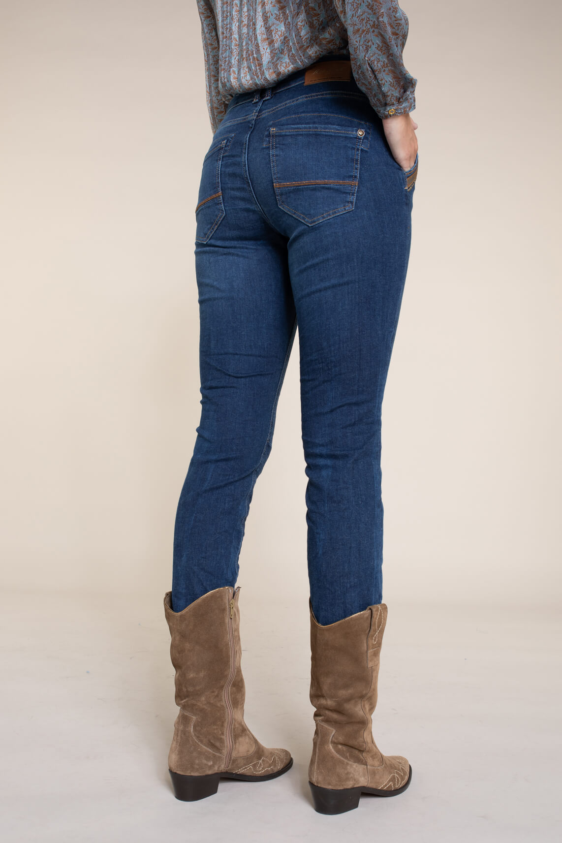 Mos Mosh Dames Etta jeans Blauw