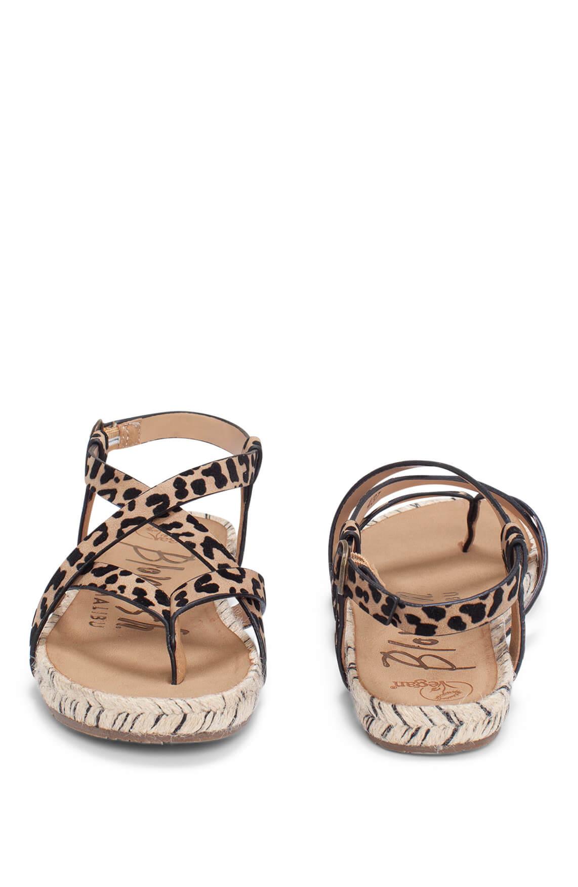 Blowfish Dames Sandaal met panterprint Bruin