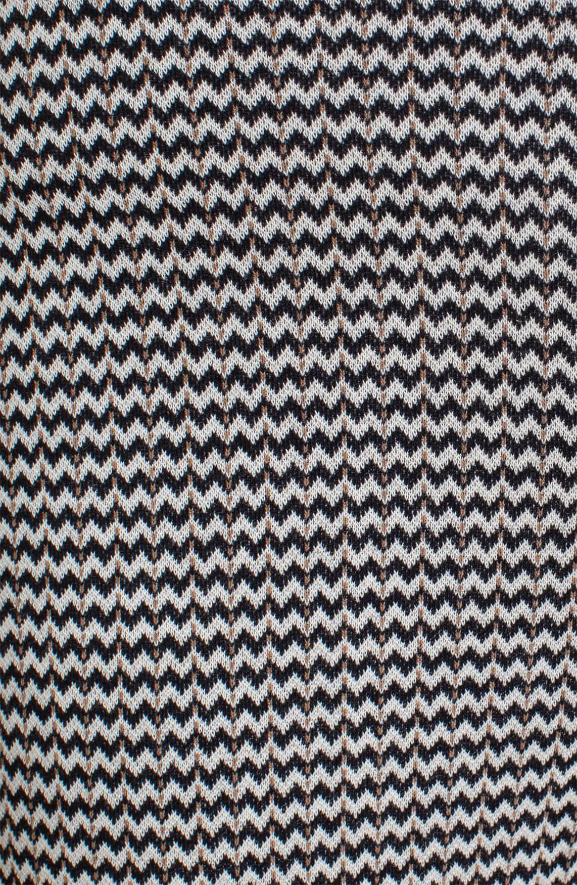 Anna Dames Chevron knit blazer zwart