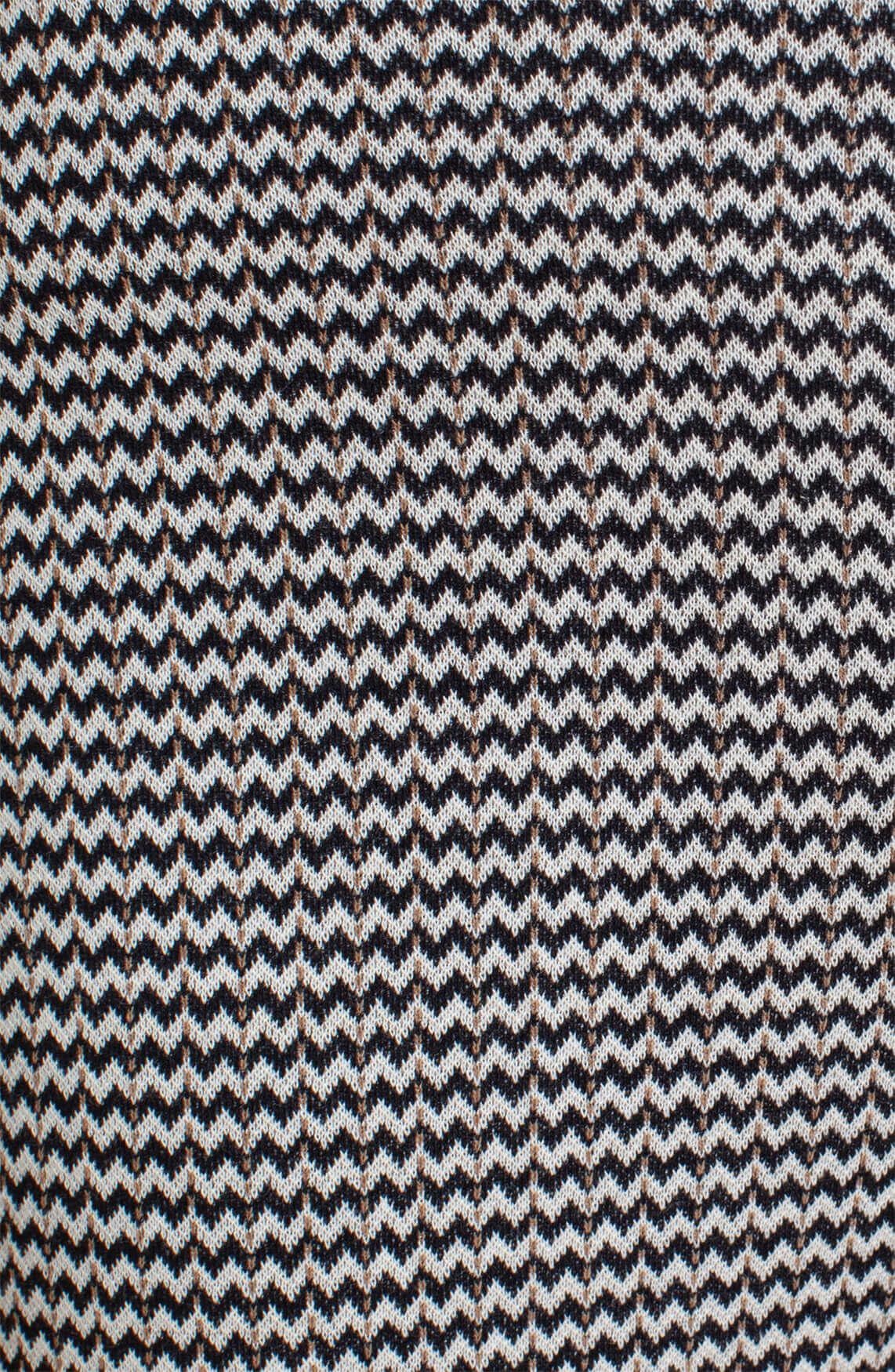 Anna Dames Chevron knit pantalon zwart