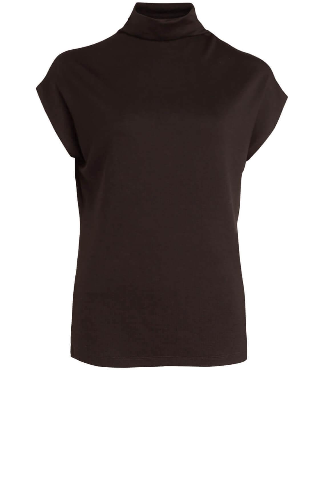 Anna Dames Shirt met col Bruin