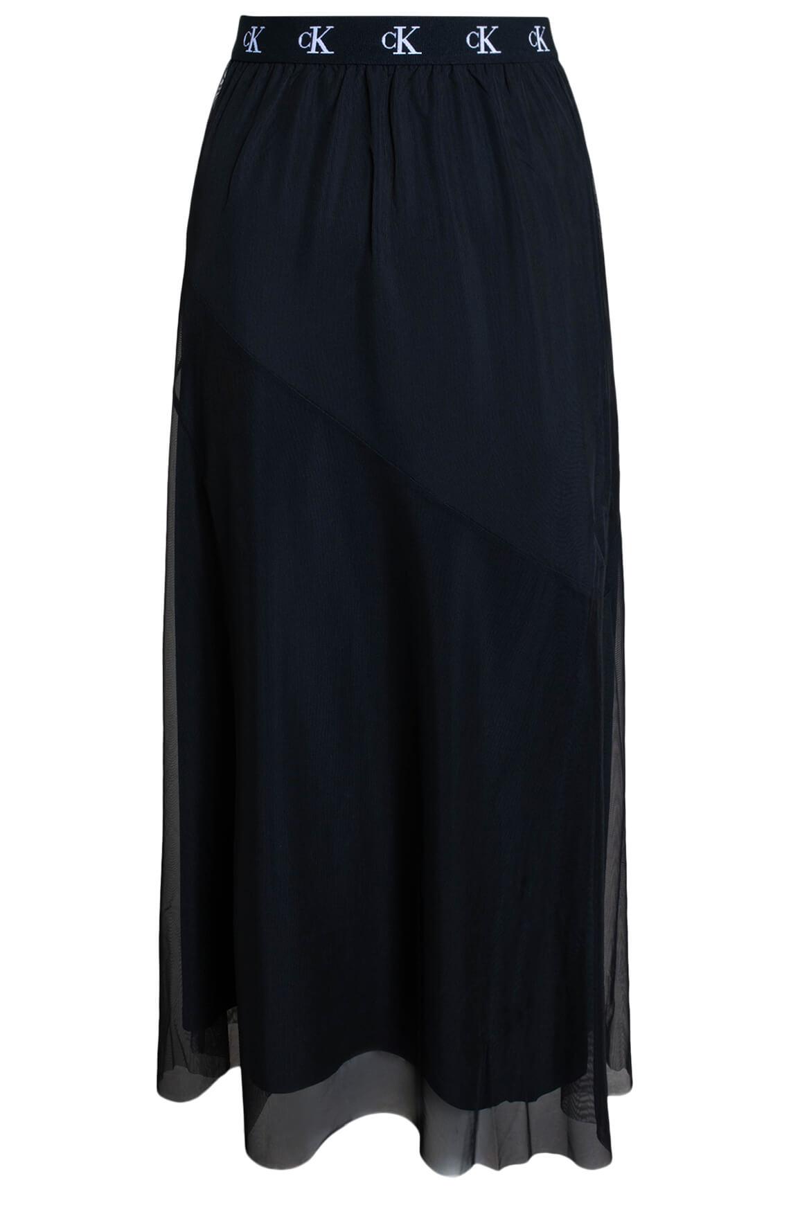 Calvin Klein Dames Maxi mesh rok zwart