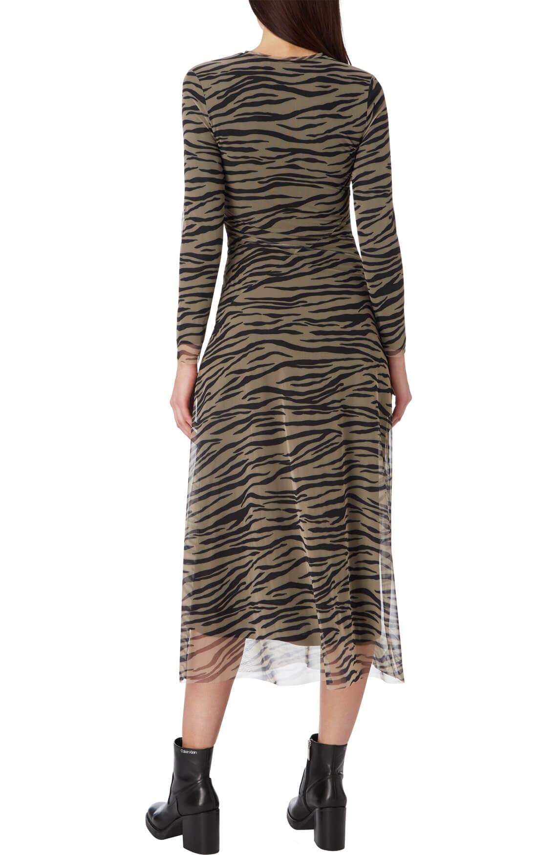 Calvin Klein Dames Lange mesh jurk Bruin