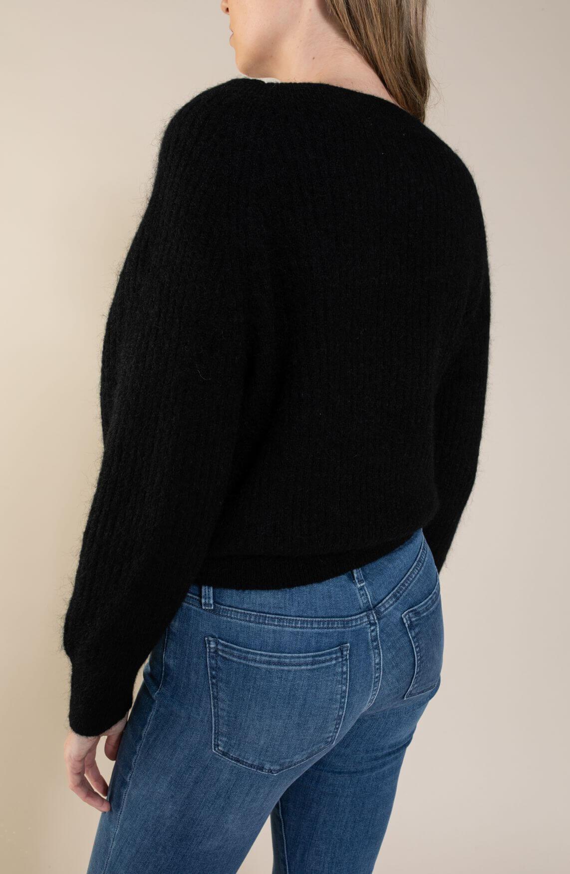 Second Female Dames Off shoulder pull zwart