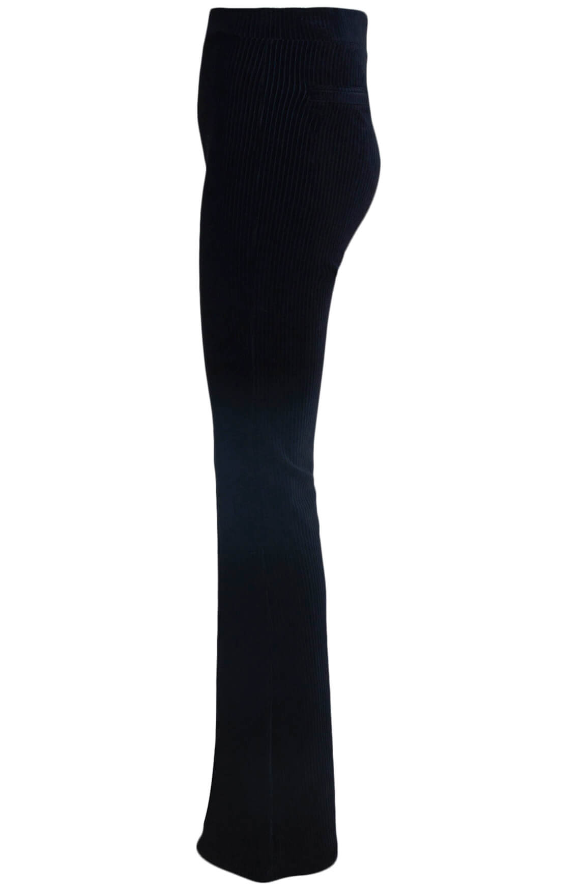 Alix The Label Dames Rib velvet broek zwart