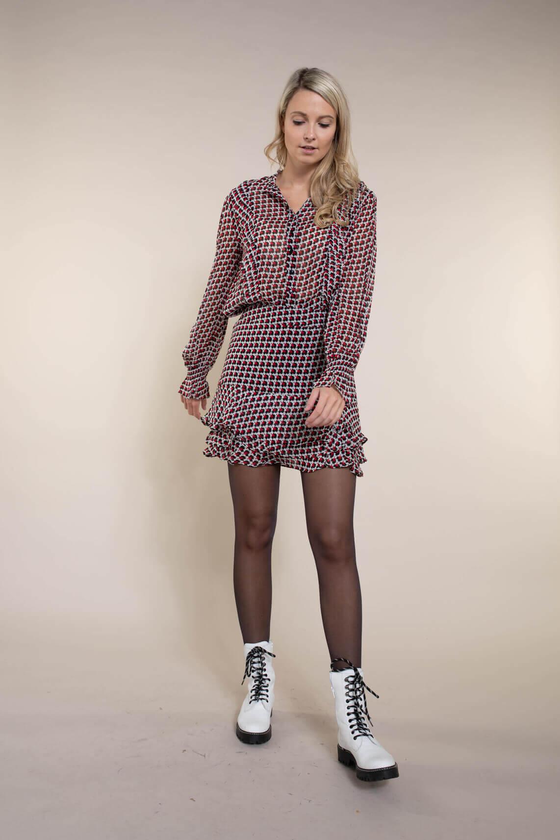 Alix The Label Dames Graphic star mini rok Rood