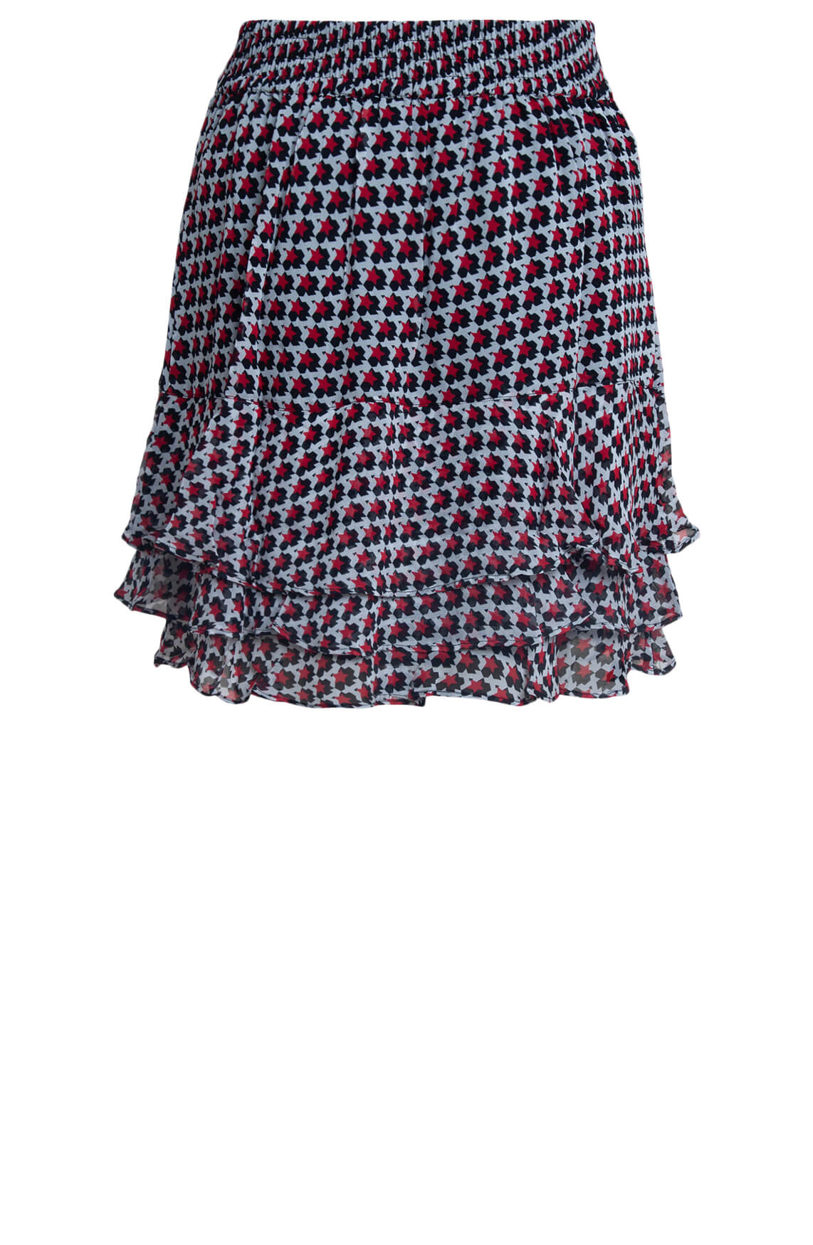 Alix The Label Dames Graphic star mini rok Rood