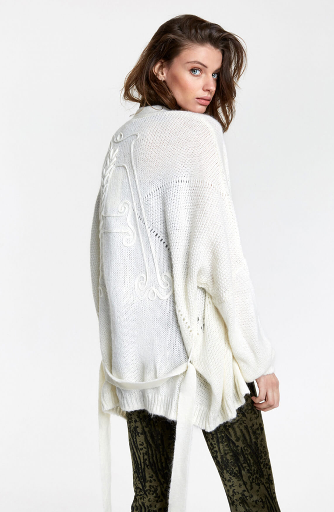 Alix The Label Dames Oversized cardigan wit