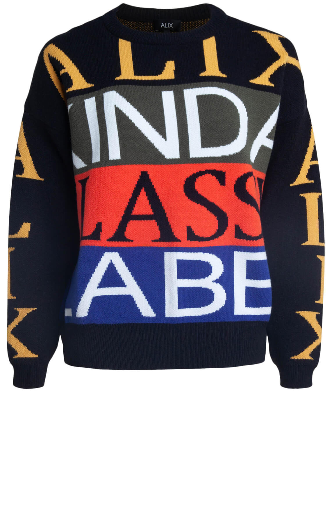 Alix The Label Dames Boxy jacquard pull Rood