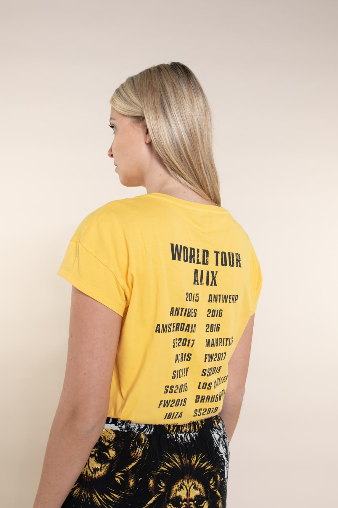 Alix The Label Dames On Tour shirt geel