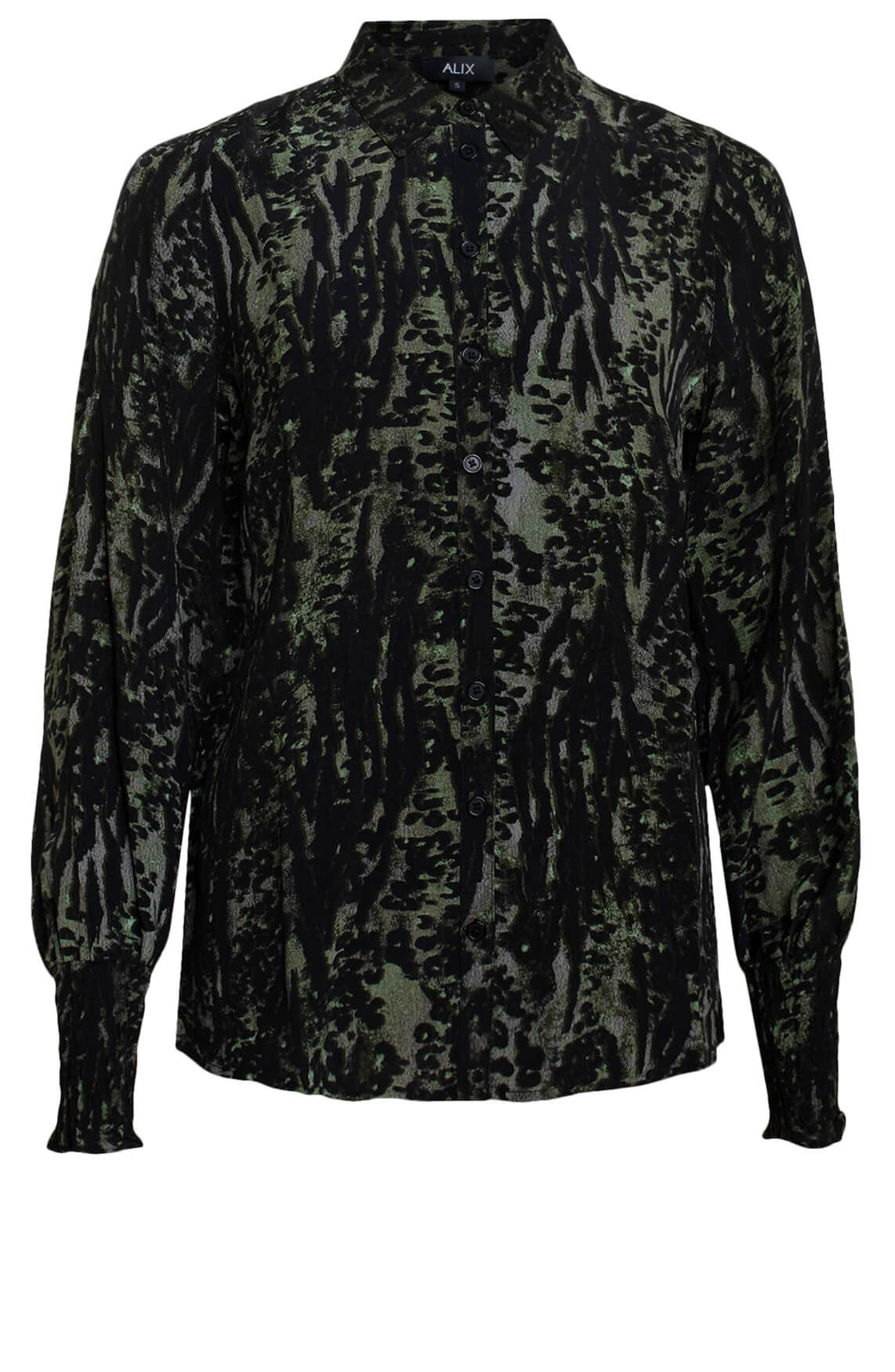 Alix The Label Dames Animal blouse groen