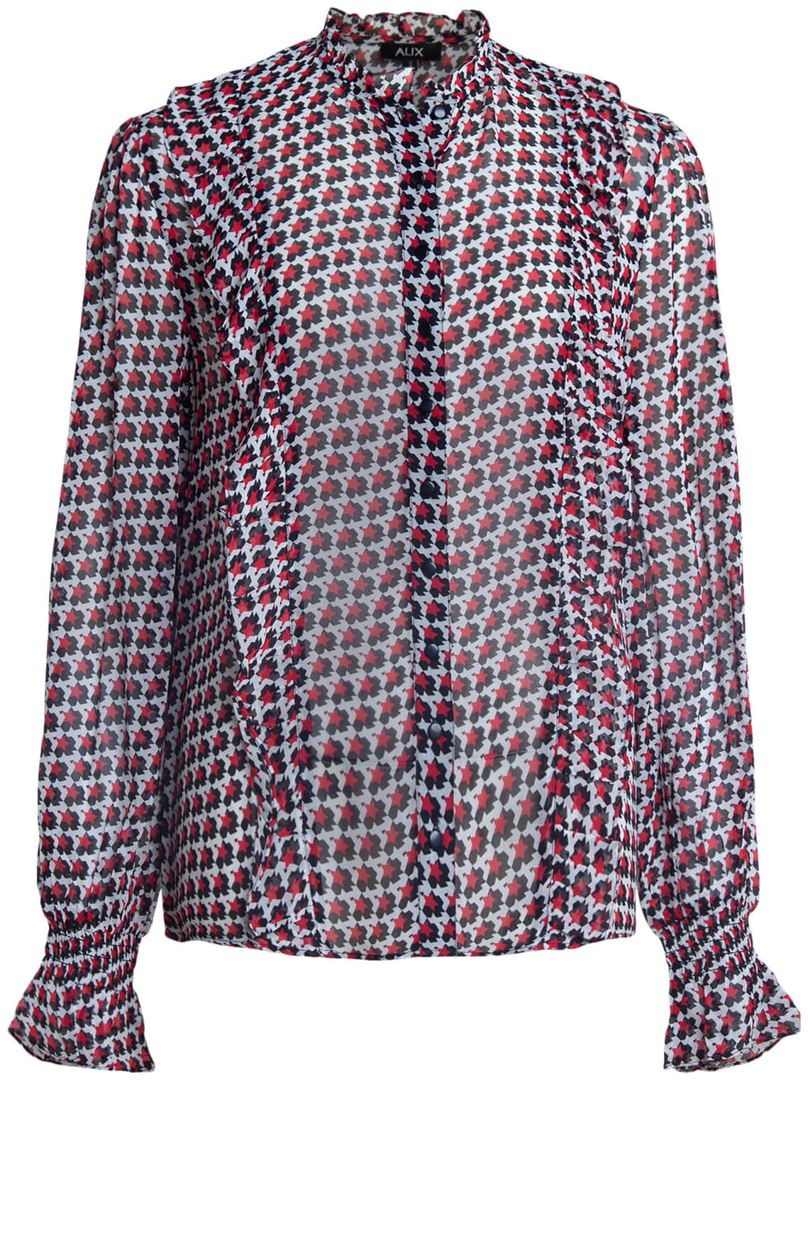 Alix The Label Dames Graphic star blouse Rood