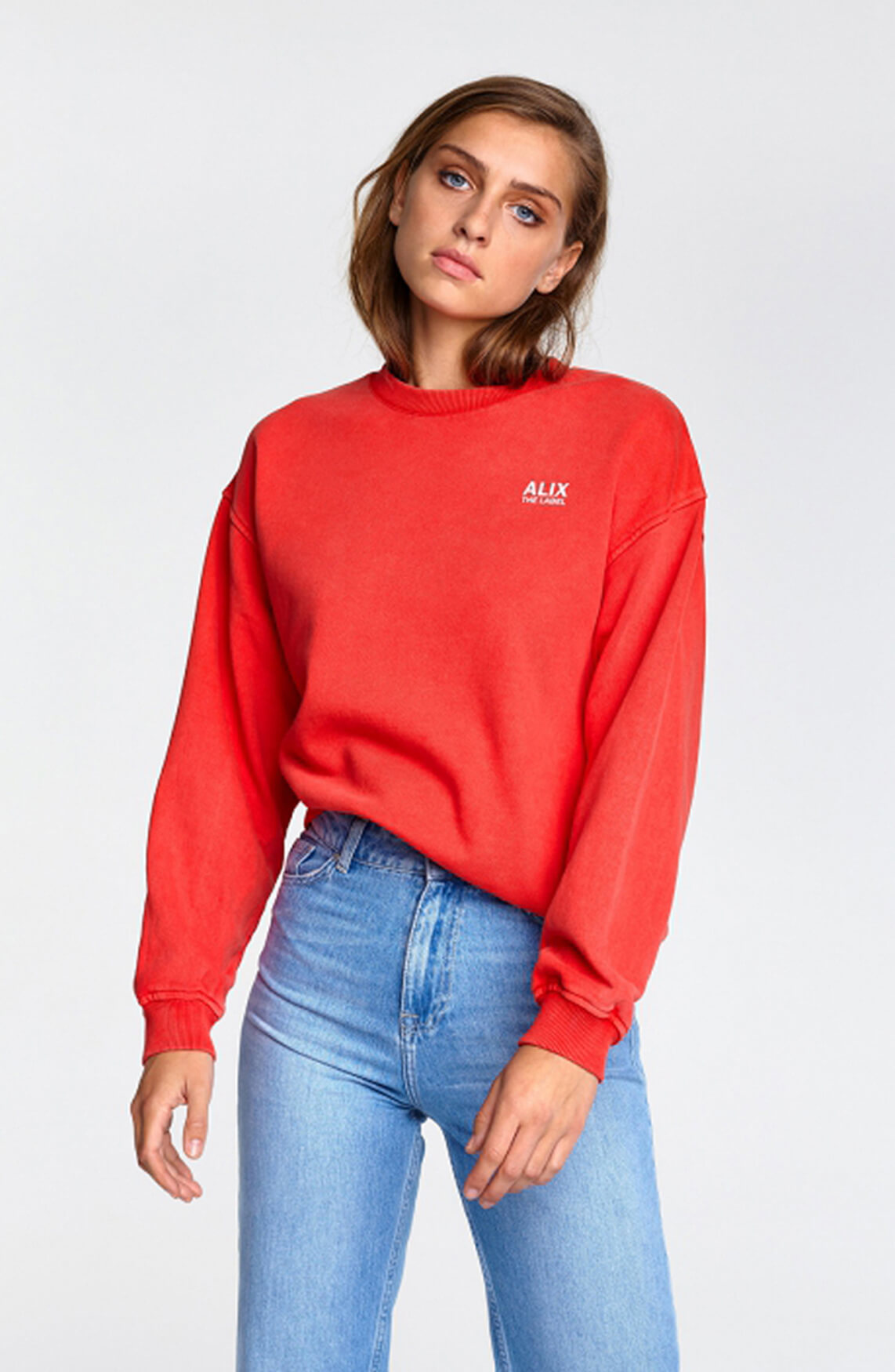 Alix The Label Dames Oversized On Tour sweater Rood