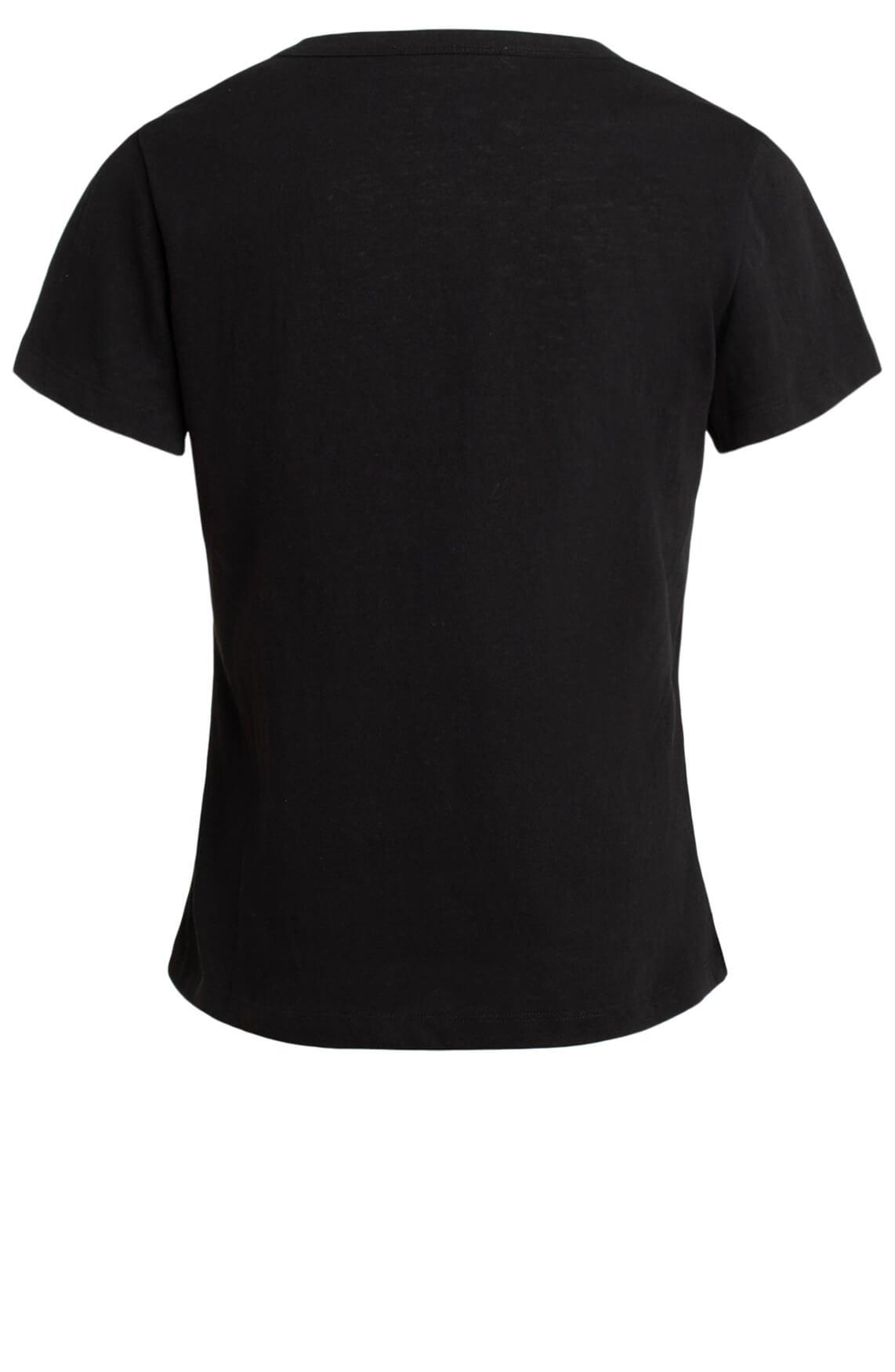 Co Couture Dames Linnen O-neck shirt zwart