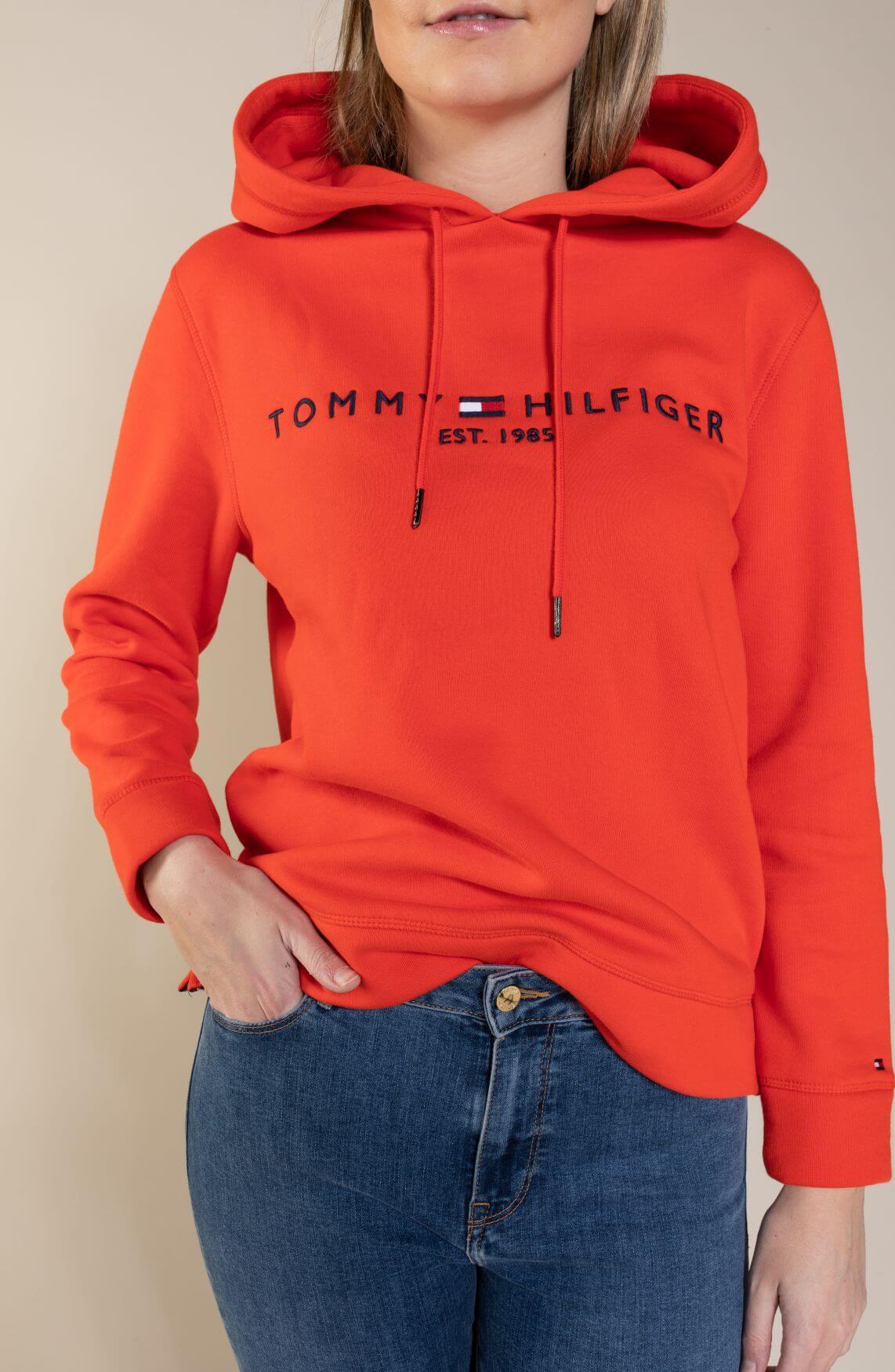Tommy Hilfiger Dames Hoodie Oranje