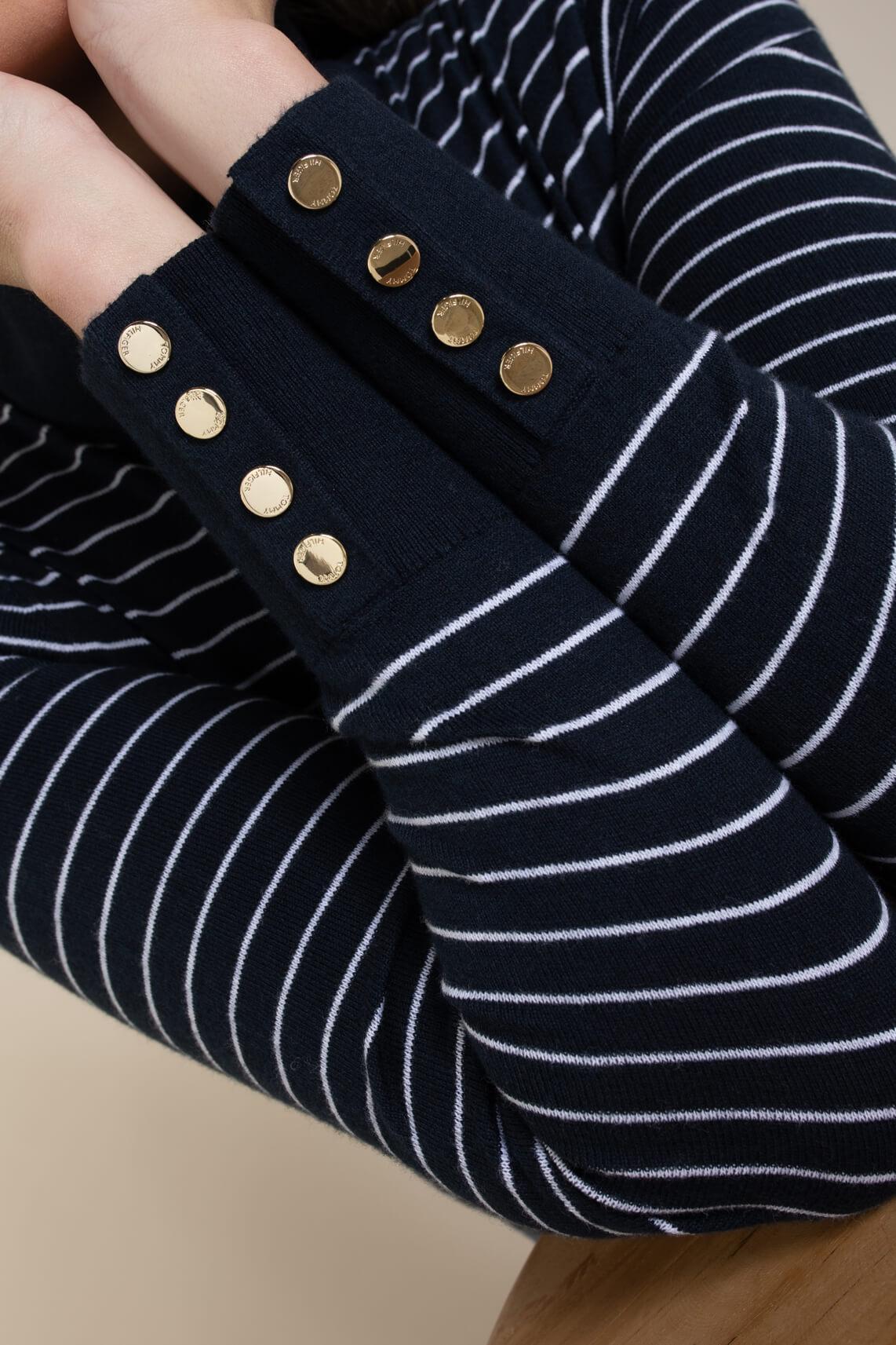 Tommy Hilfiger Dames Pullover met fijne strepen Blauw