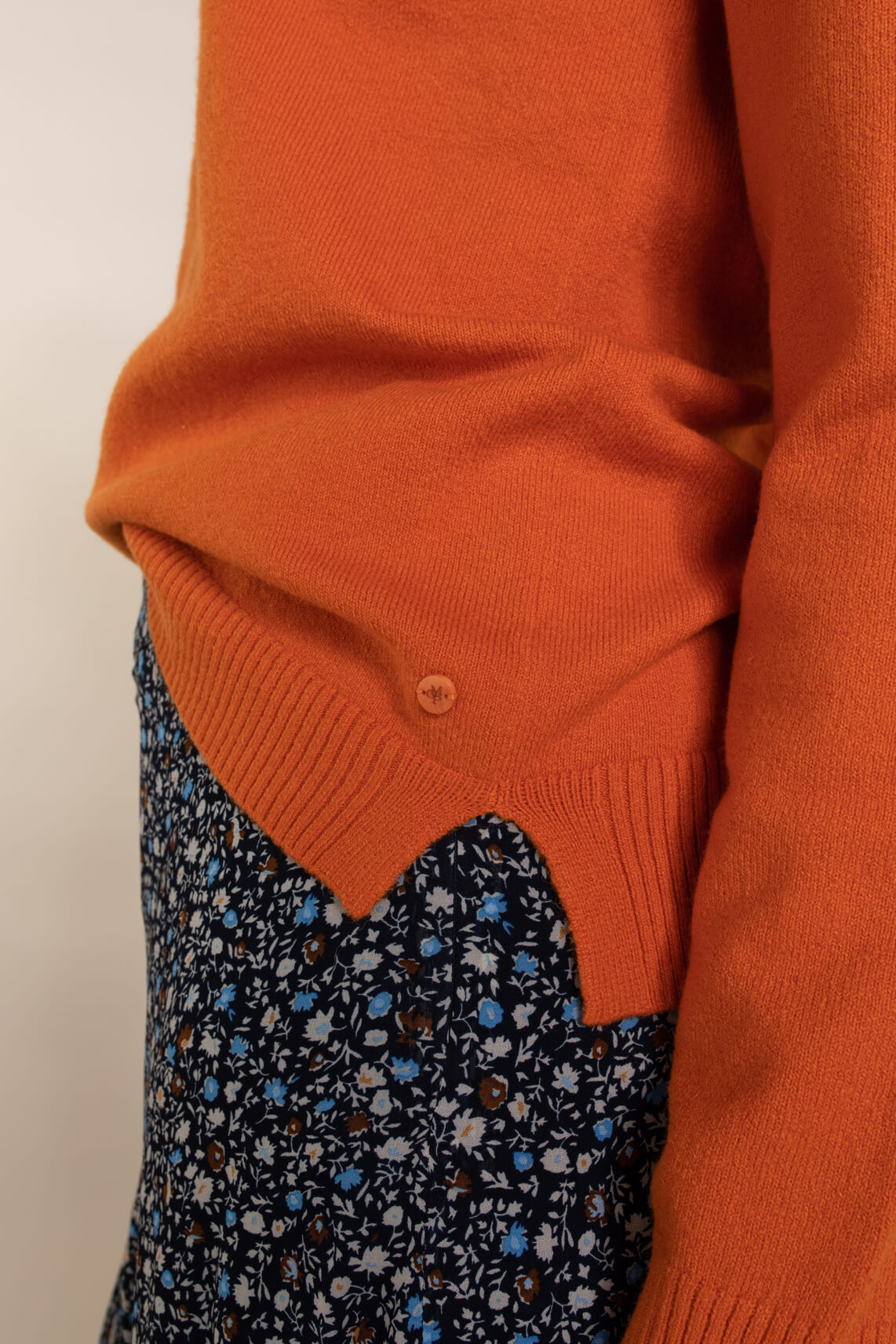 Marc O'Polo Dames Stretch pullover met wol Oranje