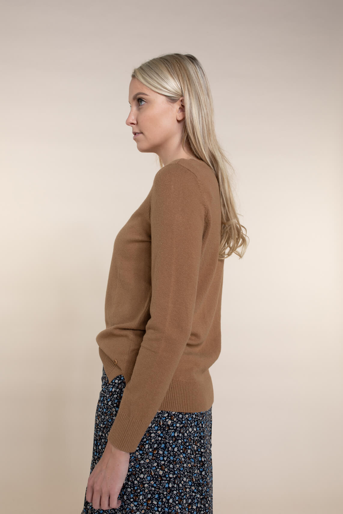Marc O'Polo Dames Stretch pullover met wol Bruin