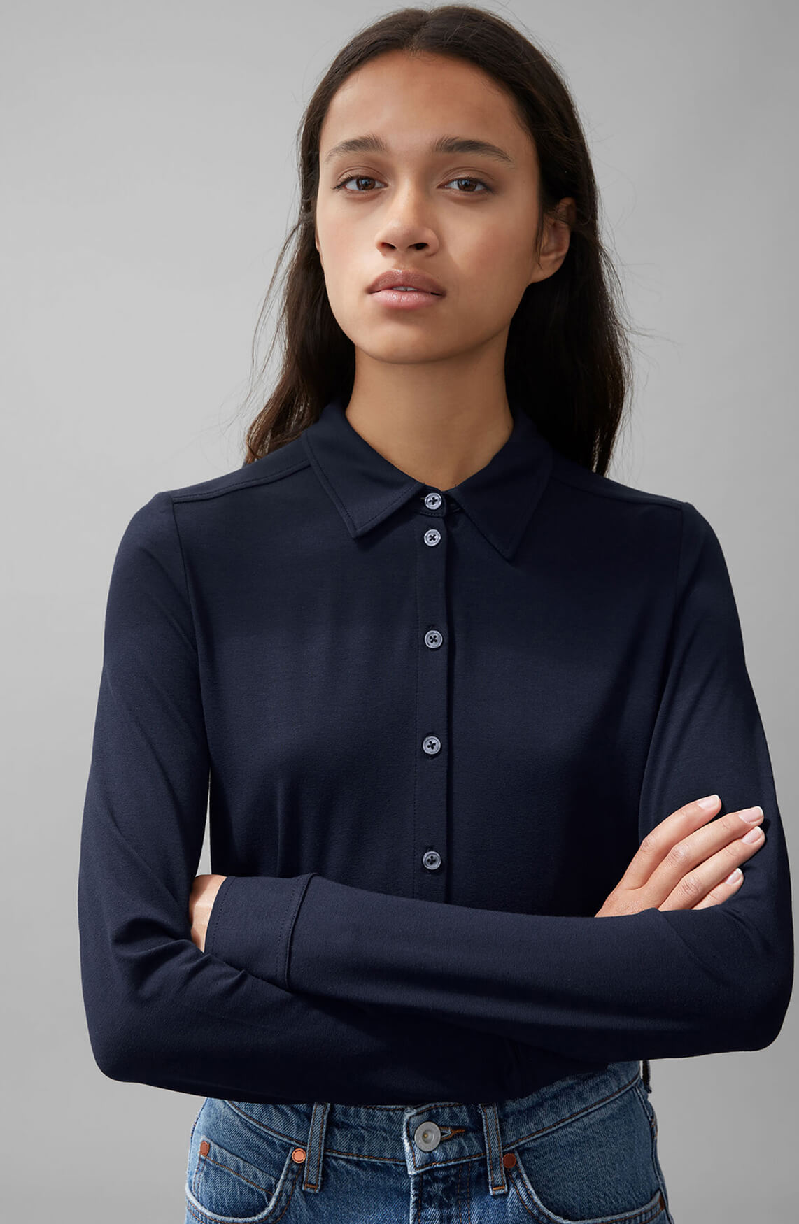 Marc O'Polo Dames Casual blouse Blauw