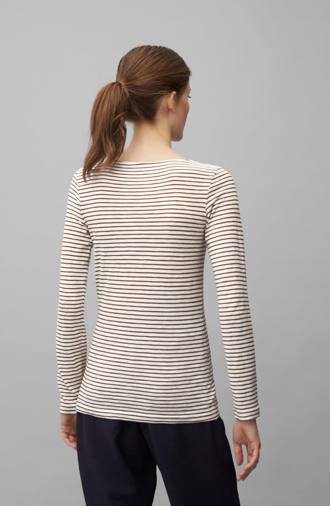 Marc O'Polo Dames Gestreept shirt Bruin