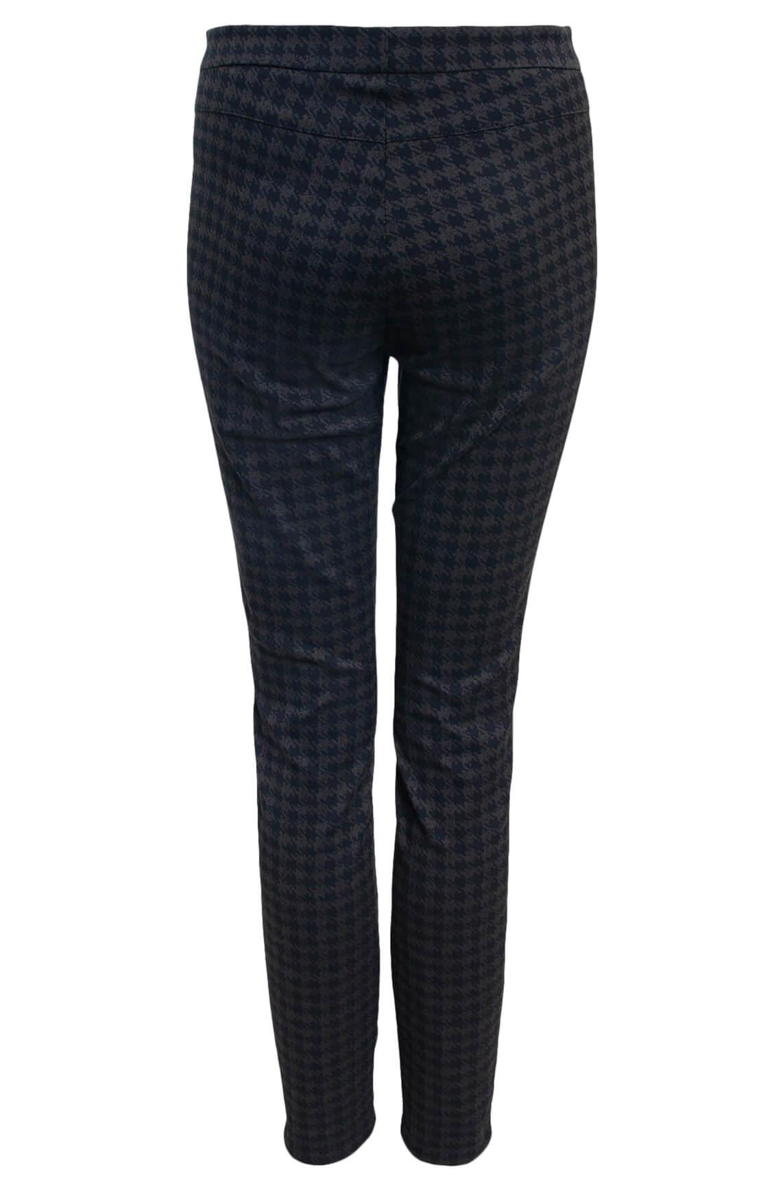 Brax Dames Mills pied-de-coque broek zwart