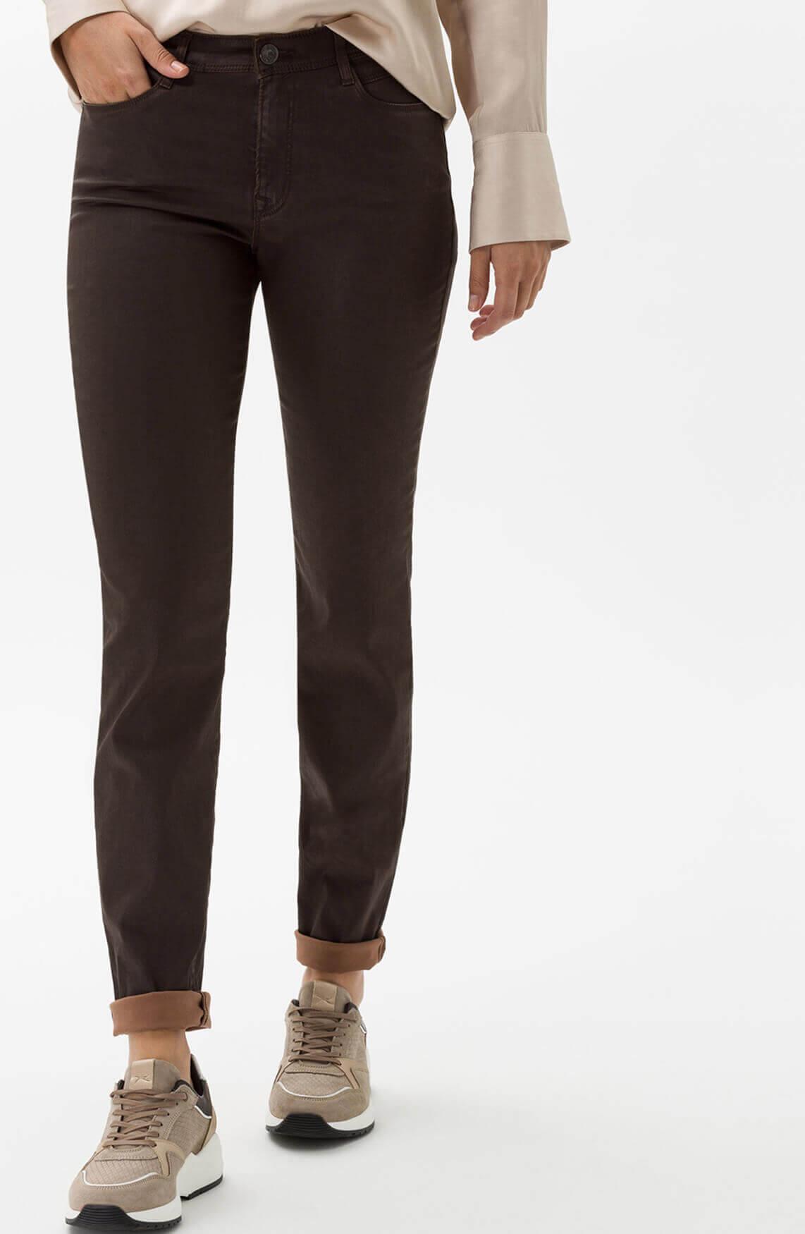 Brax Dames Shakira gecoate jeans Bruin