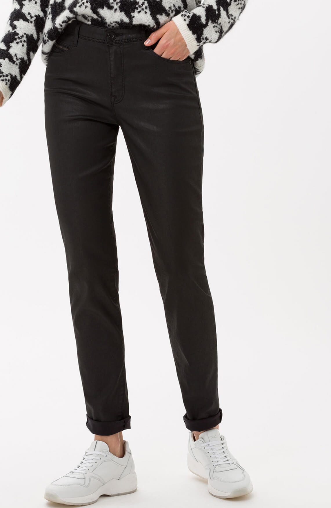 Brax Dames Shakira gecoate jeans zwart