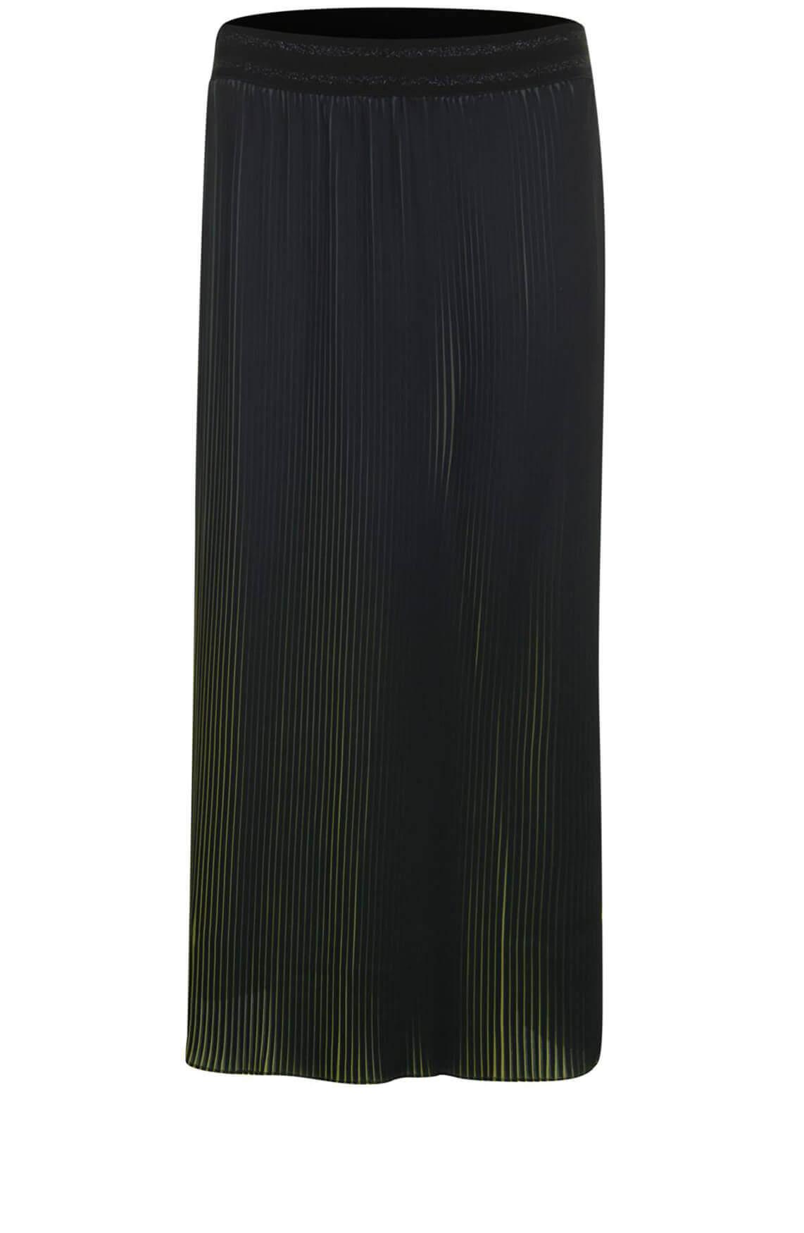 Poools Dames Ombré plissé rok groen