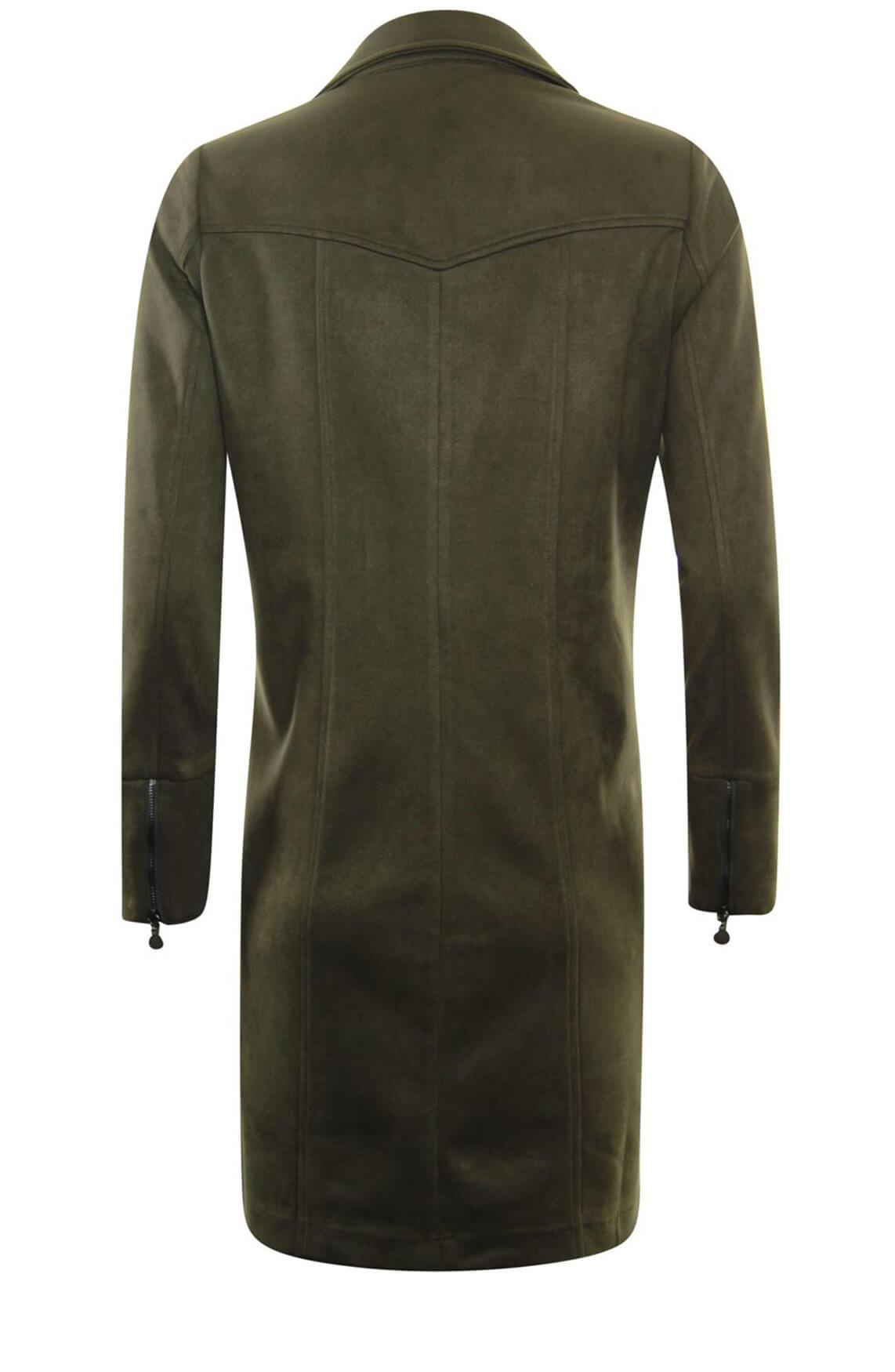 Poools Dames Suède scuba jurk groen