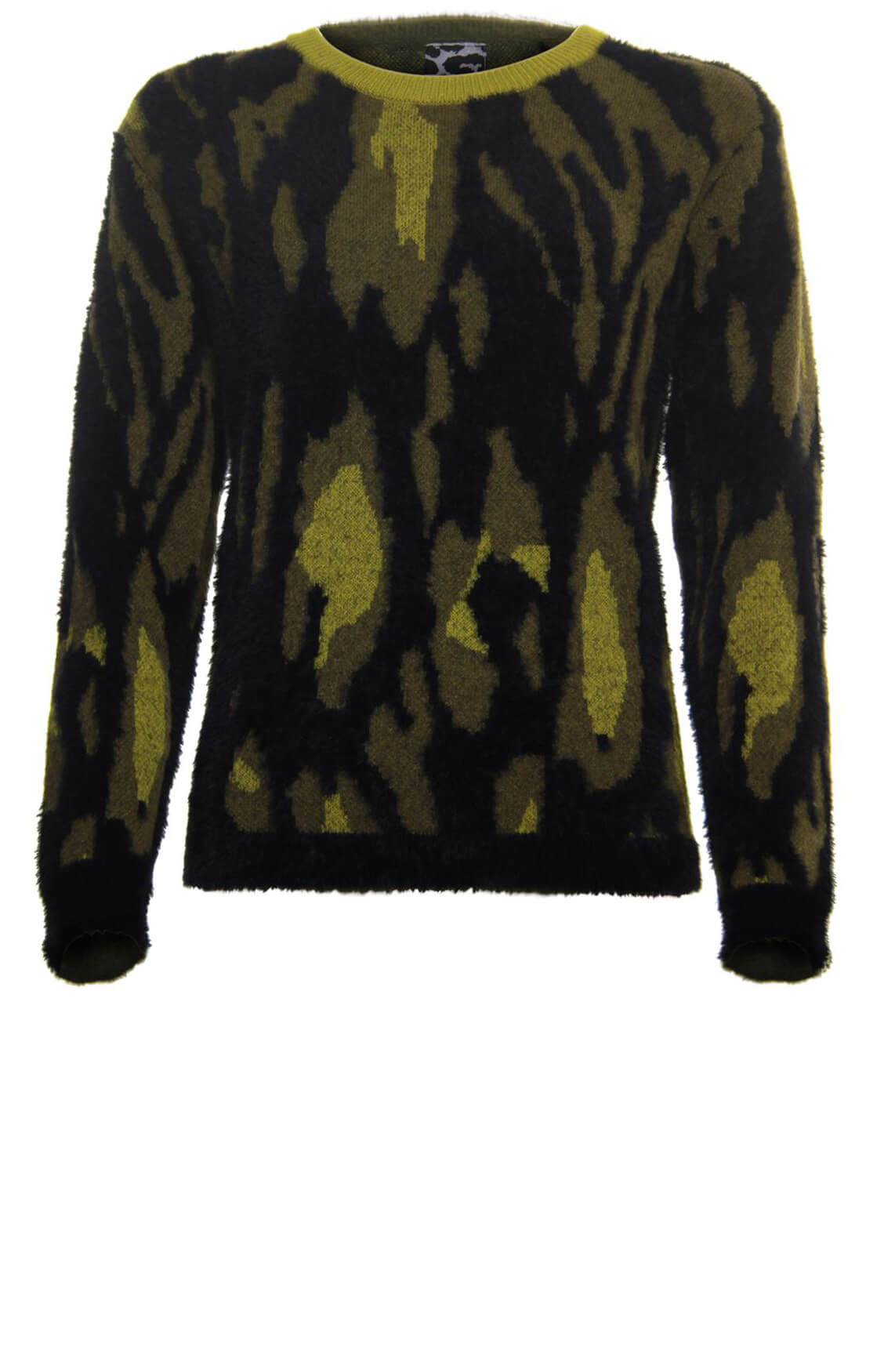 Poools Dames Jacquard sweater groen