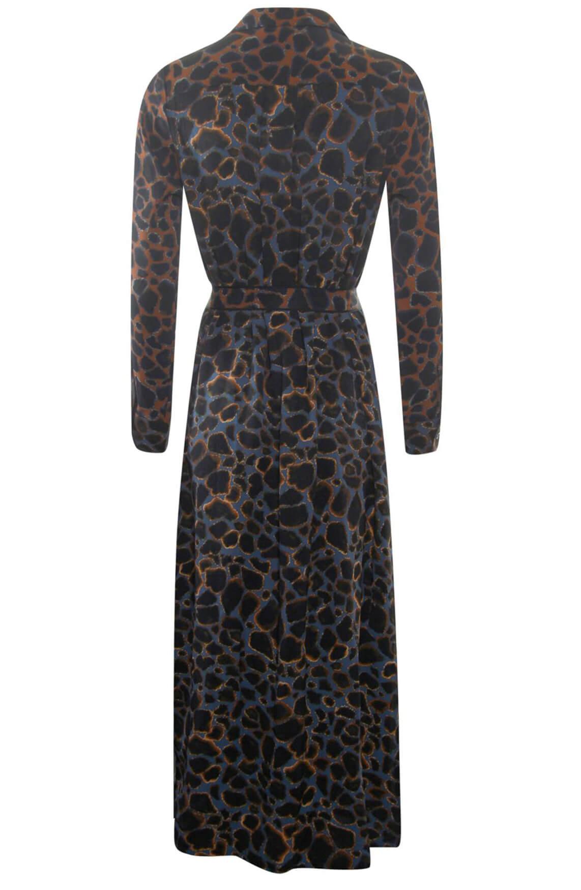 Poools Dames Leopard jurk Blauw