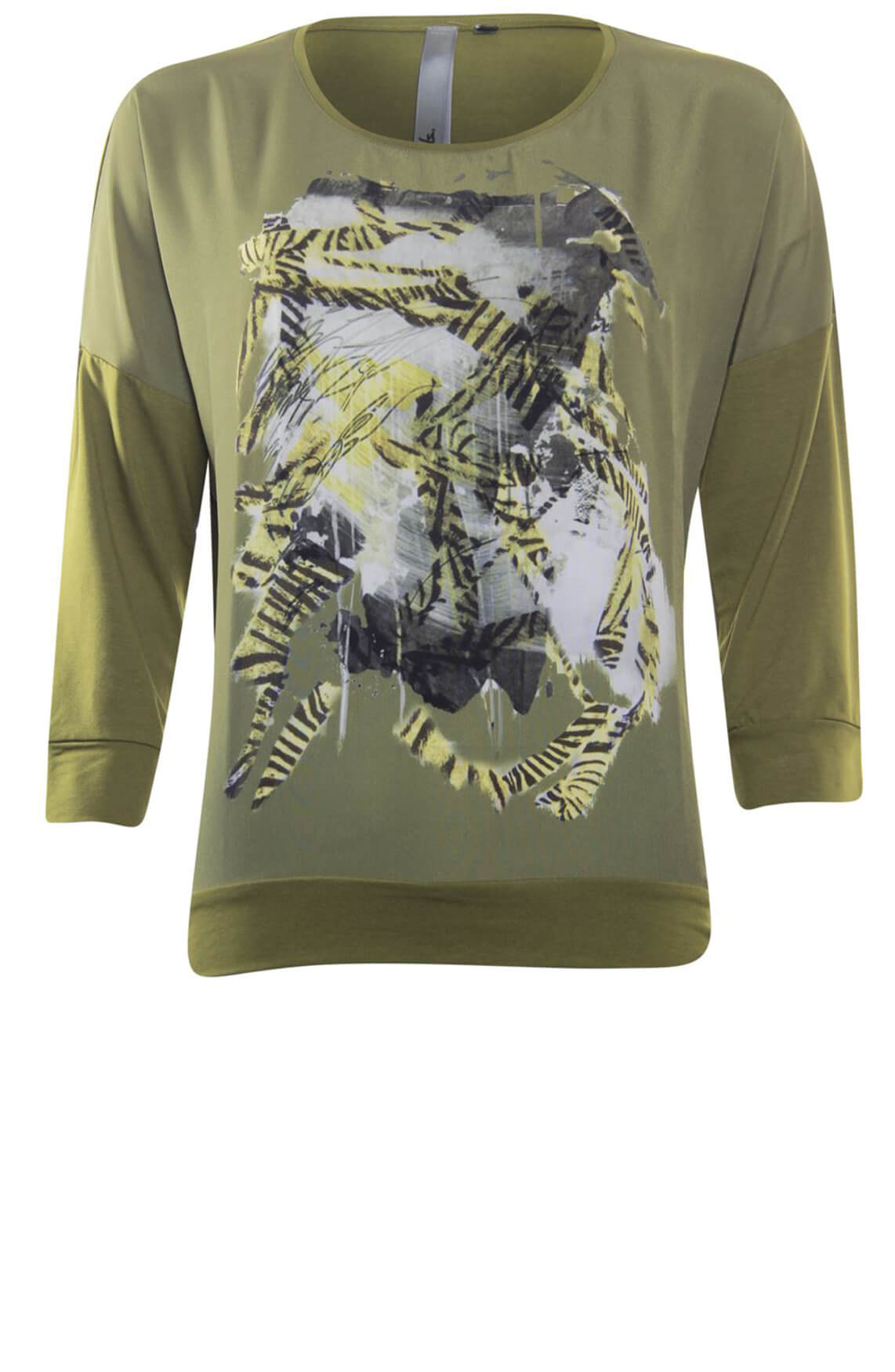 Poools Dames Artwork shirt groen