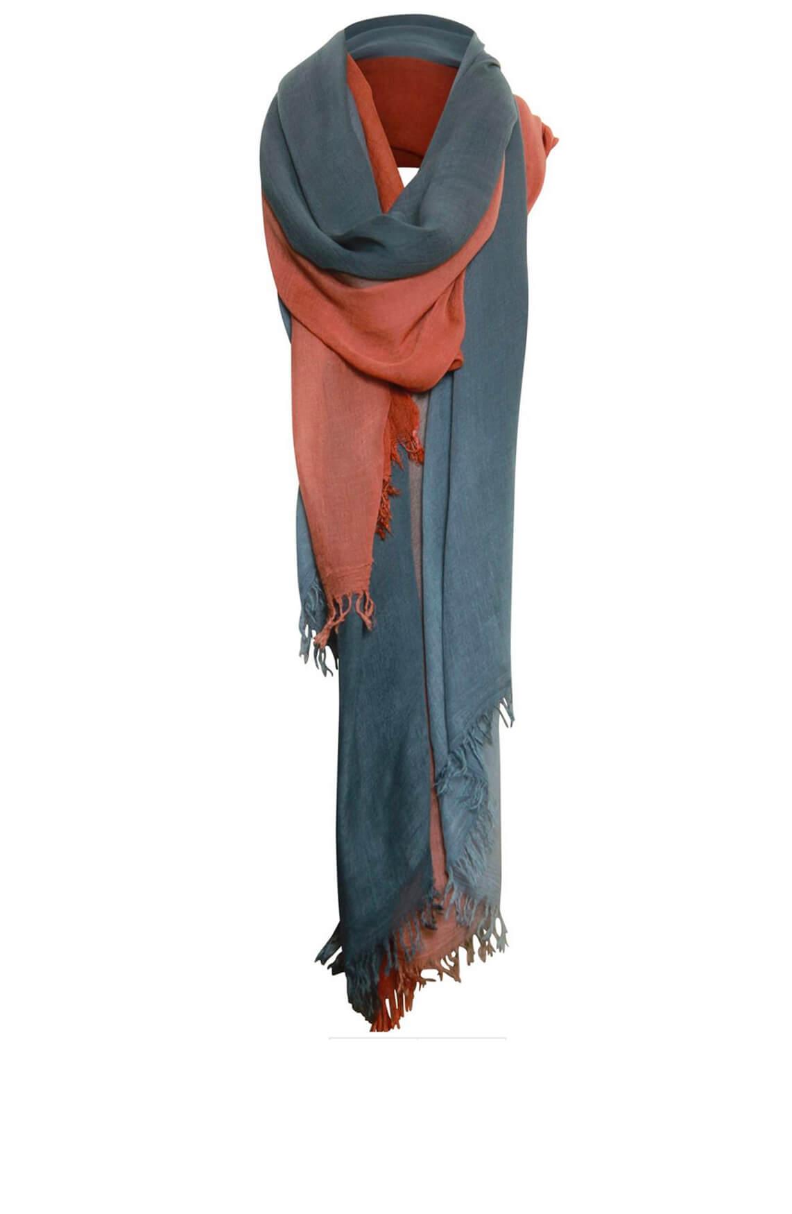 Poools Dames Meerkleurige shawl Rood