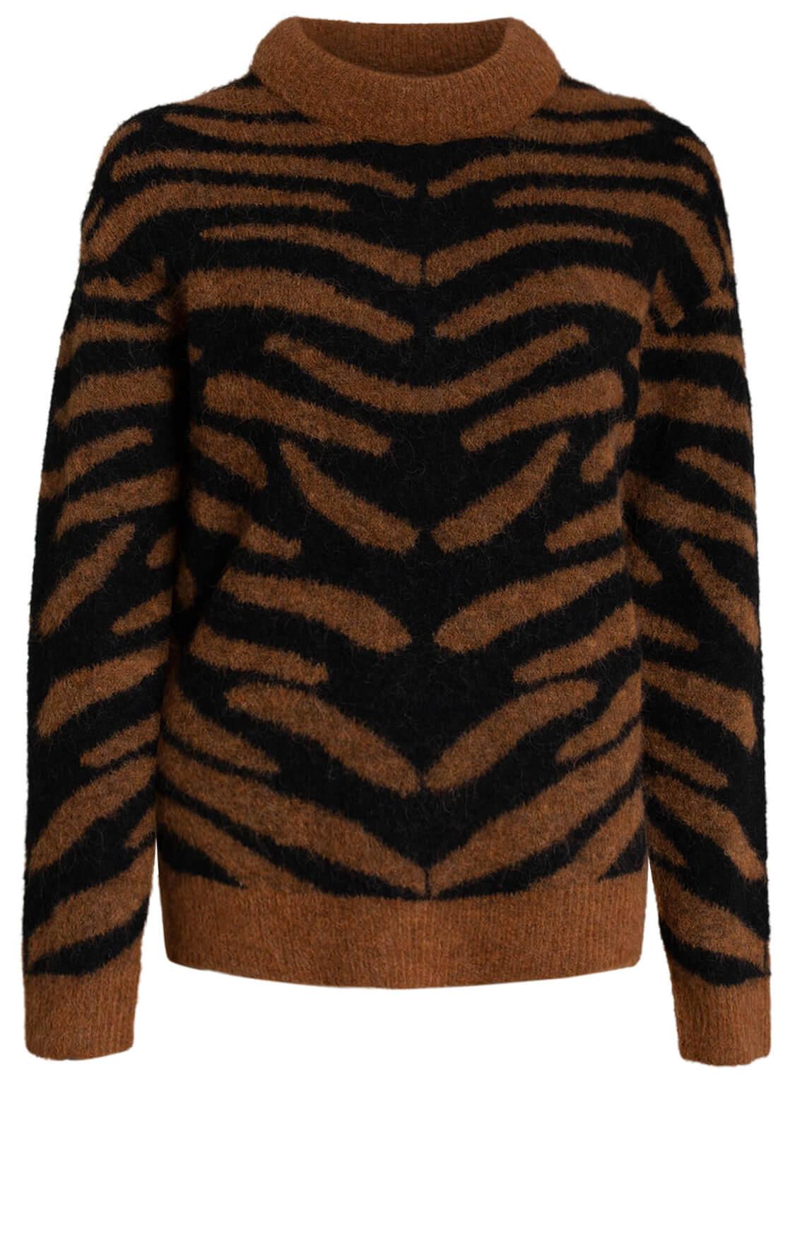 Copenhagen Muse Dames Zebra pullover Bruin