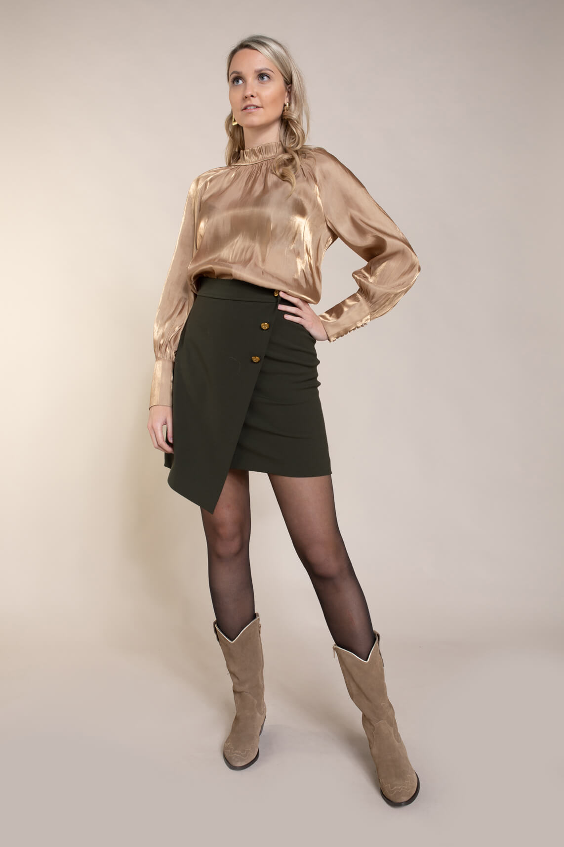 Copenhagen Muse Dames Celia blouse goud