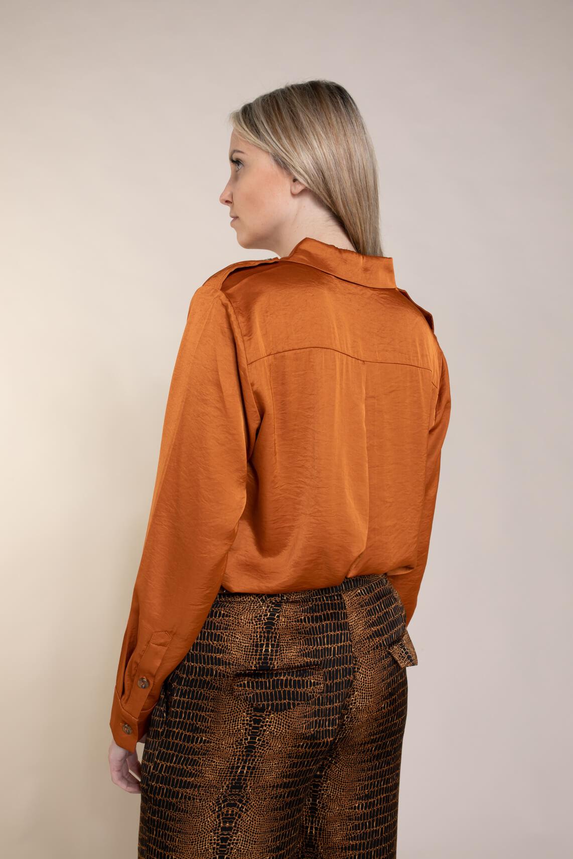 Copenhagen Muse Dames Cacco blouse Bruin