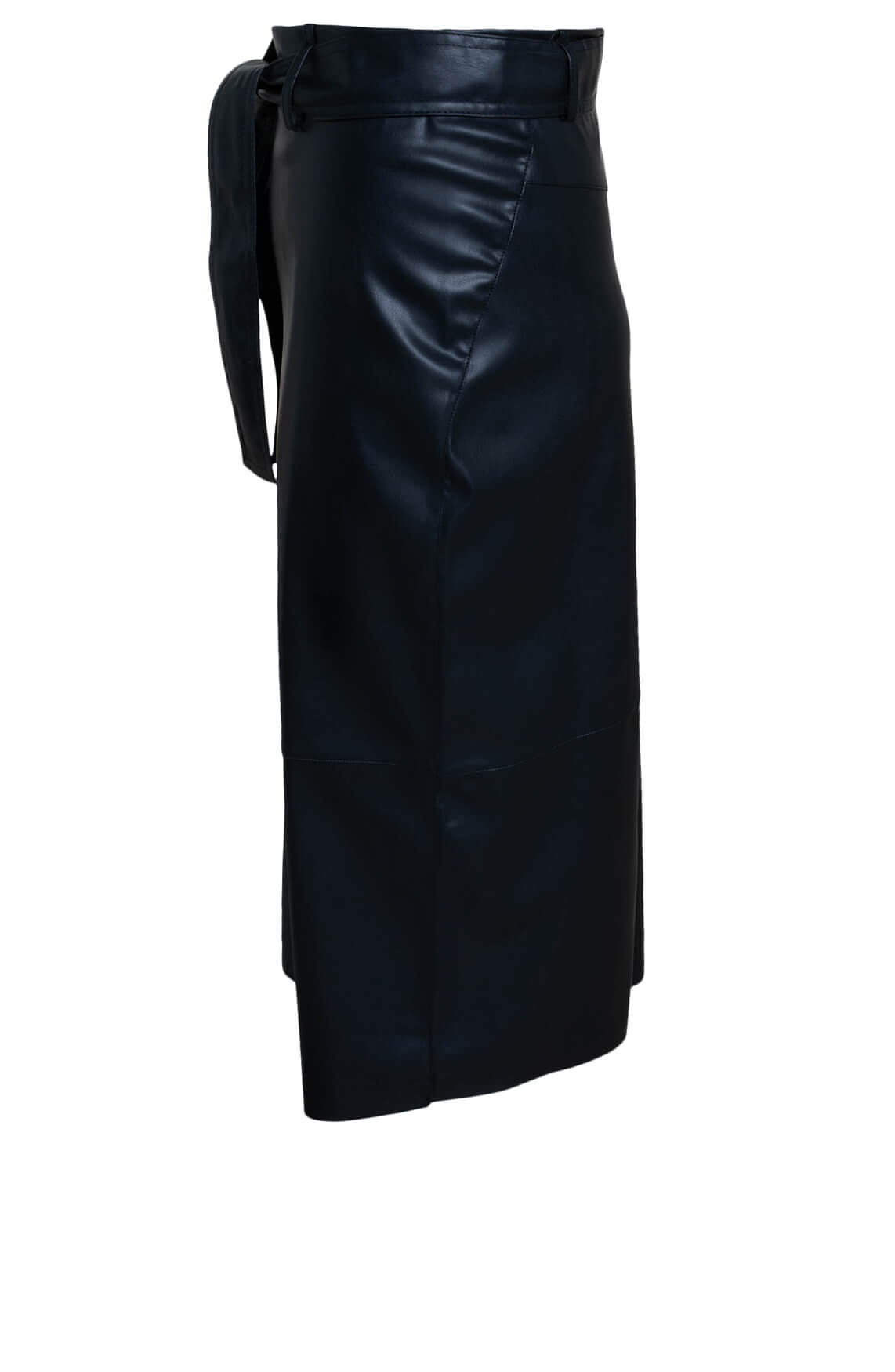 Anna Dames Imitatieleren rok zwart