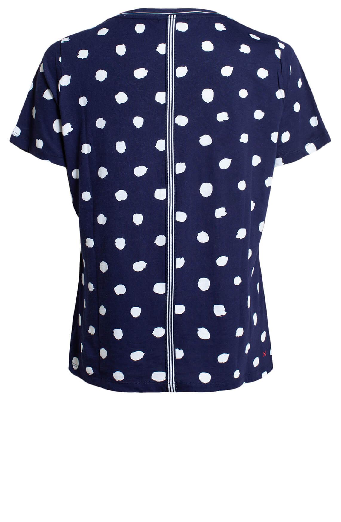Anna Blue Dames Shirt met stippen Blauw