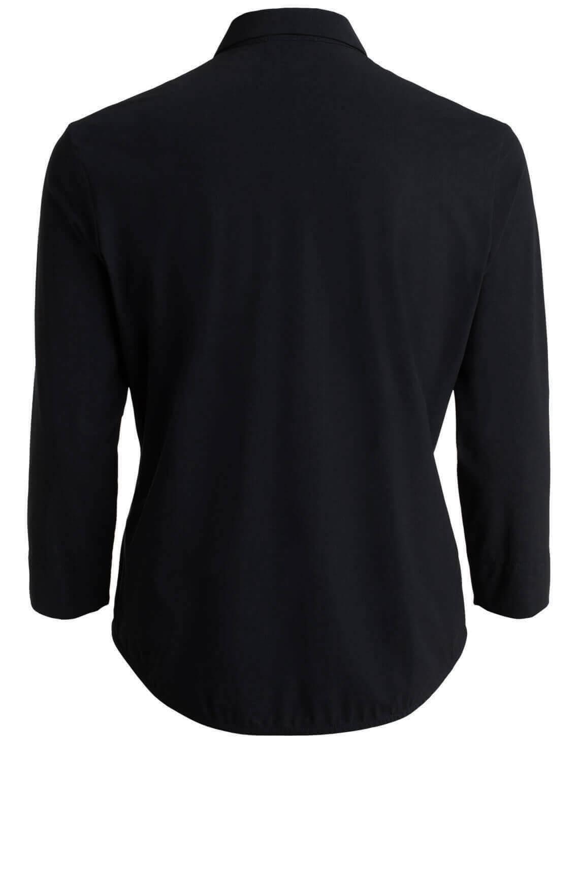 Anna Dames Jersey sensitive blouse zwart