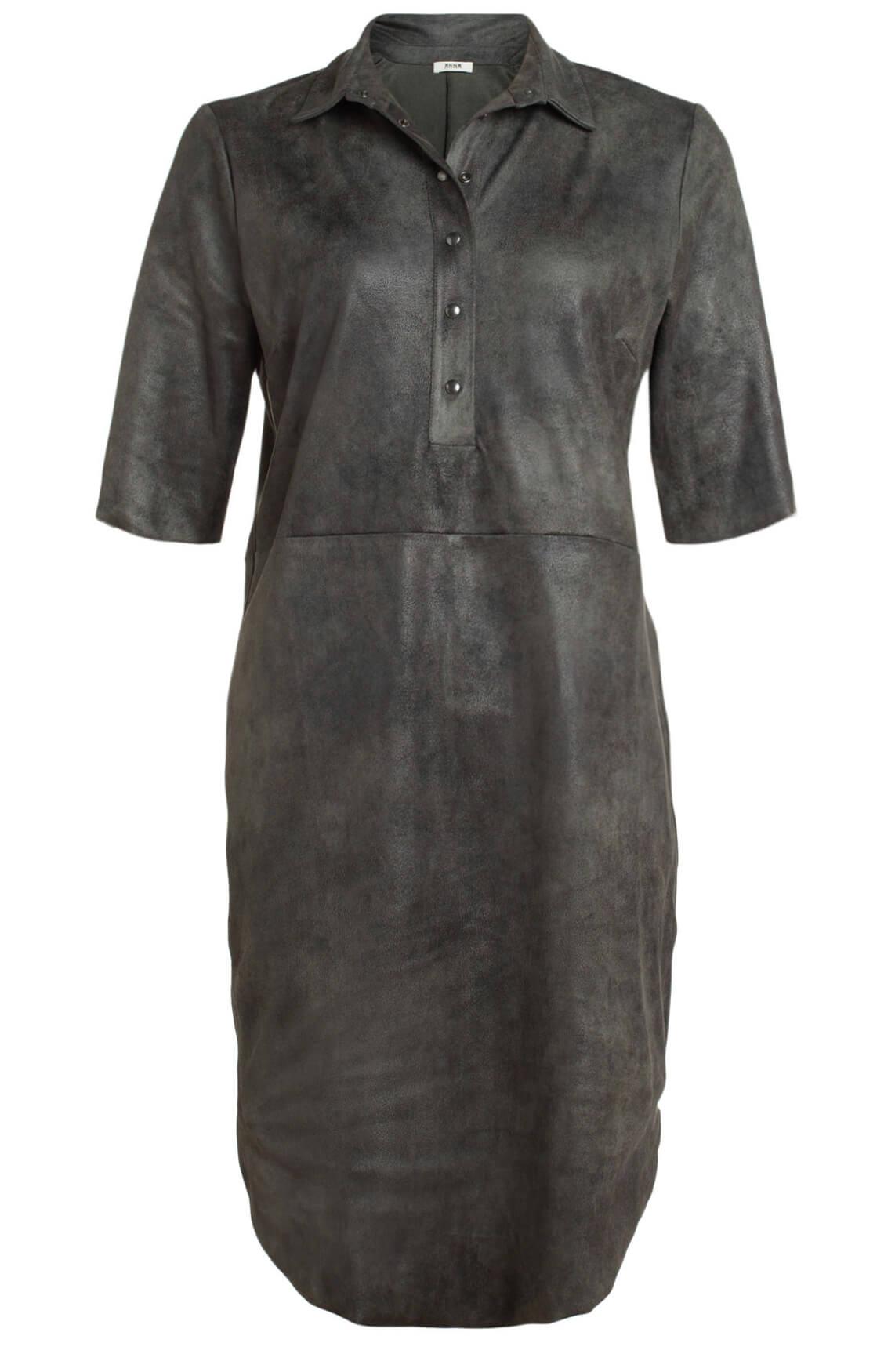 Anna Dames Fake leather jurk groen