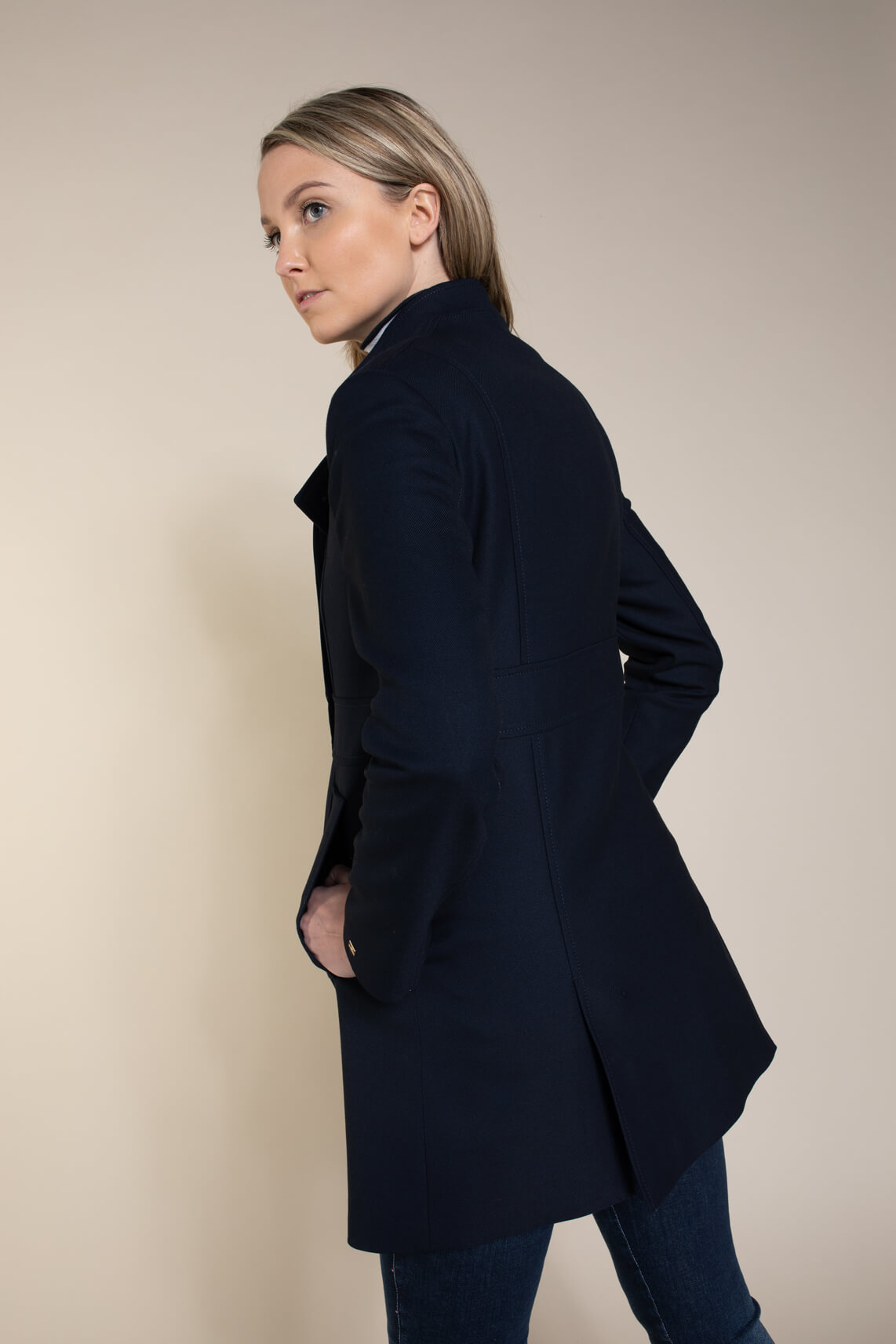 Tommy Hilfiger Dames Military mantel Blauw