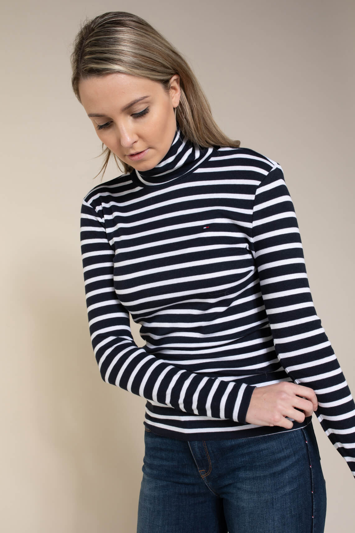 Tommy Hilfiger Dames Shirt met strepen Blauw