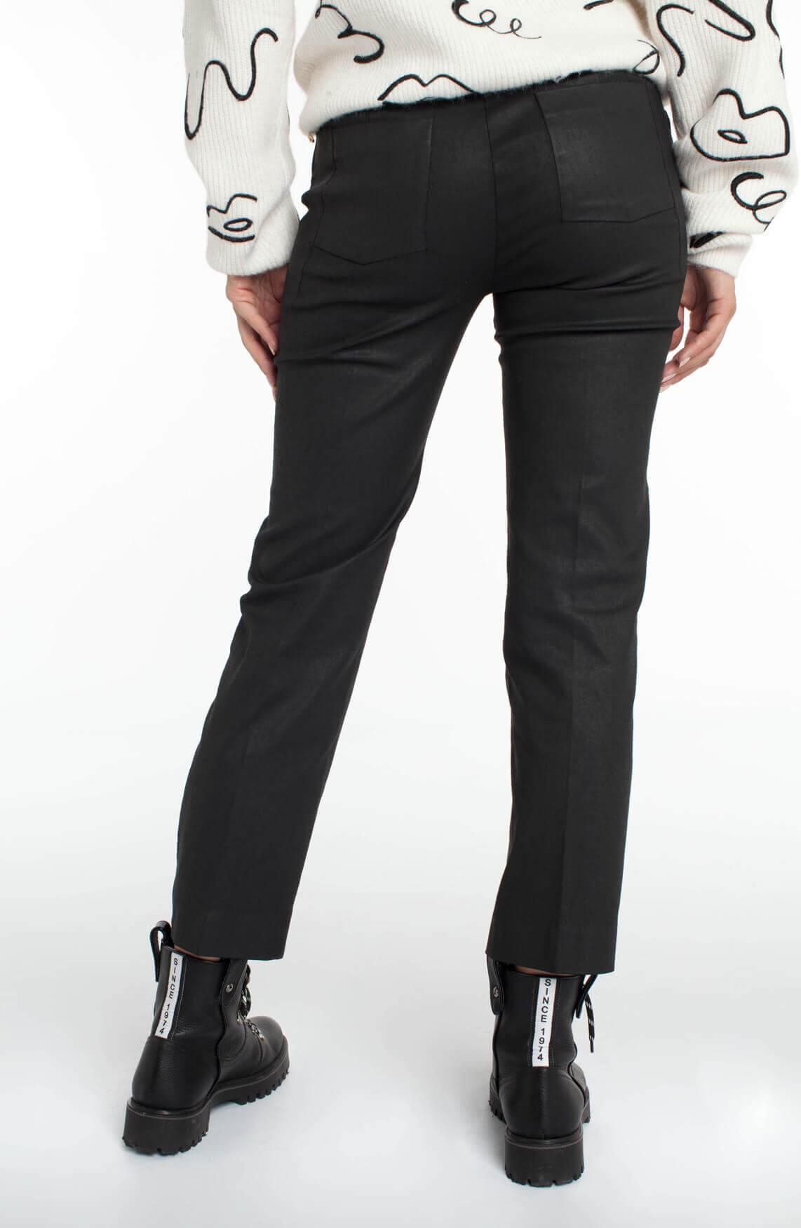 Drykorn Dames Basket gecoate pantalon zwart