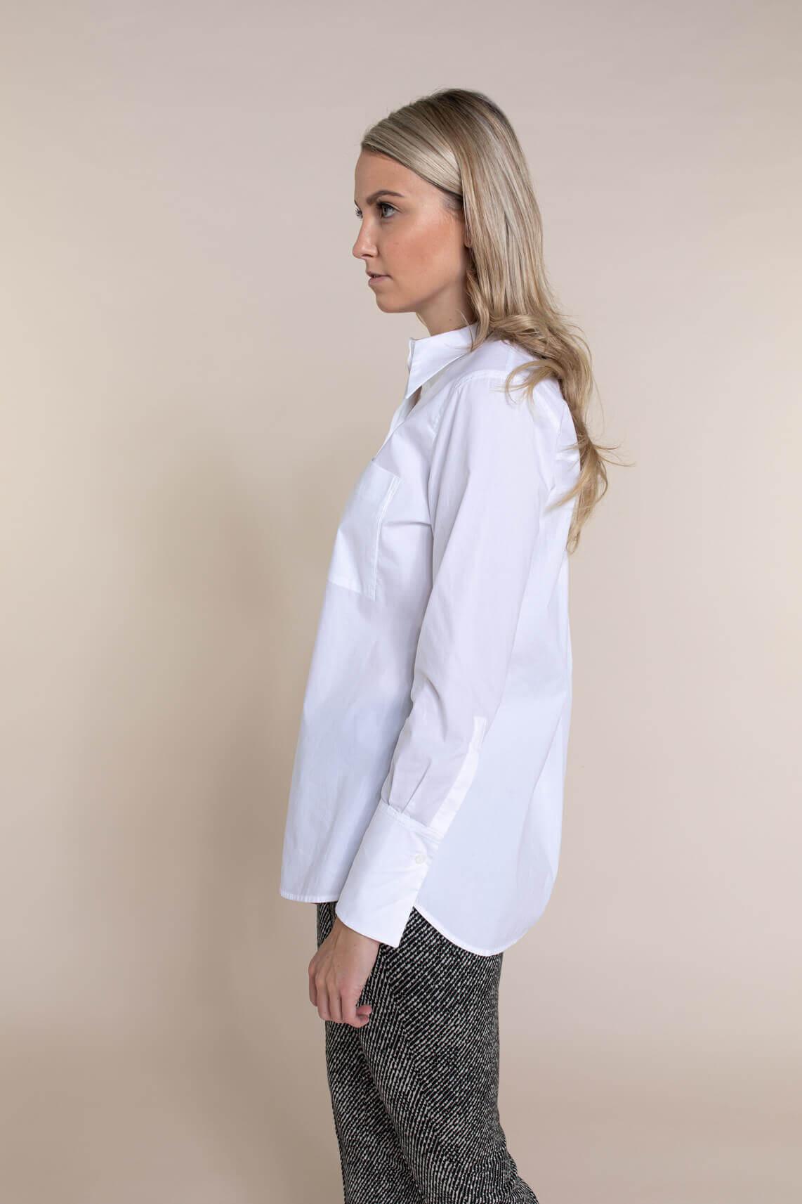 Drykorn Dames Chlaris overhemdblouse Wit