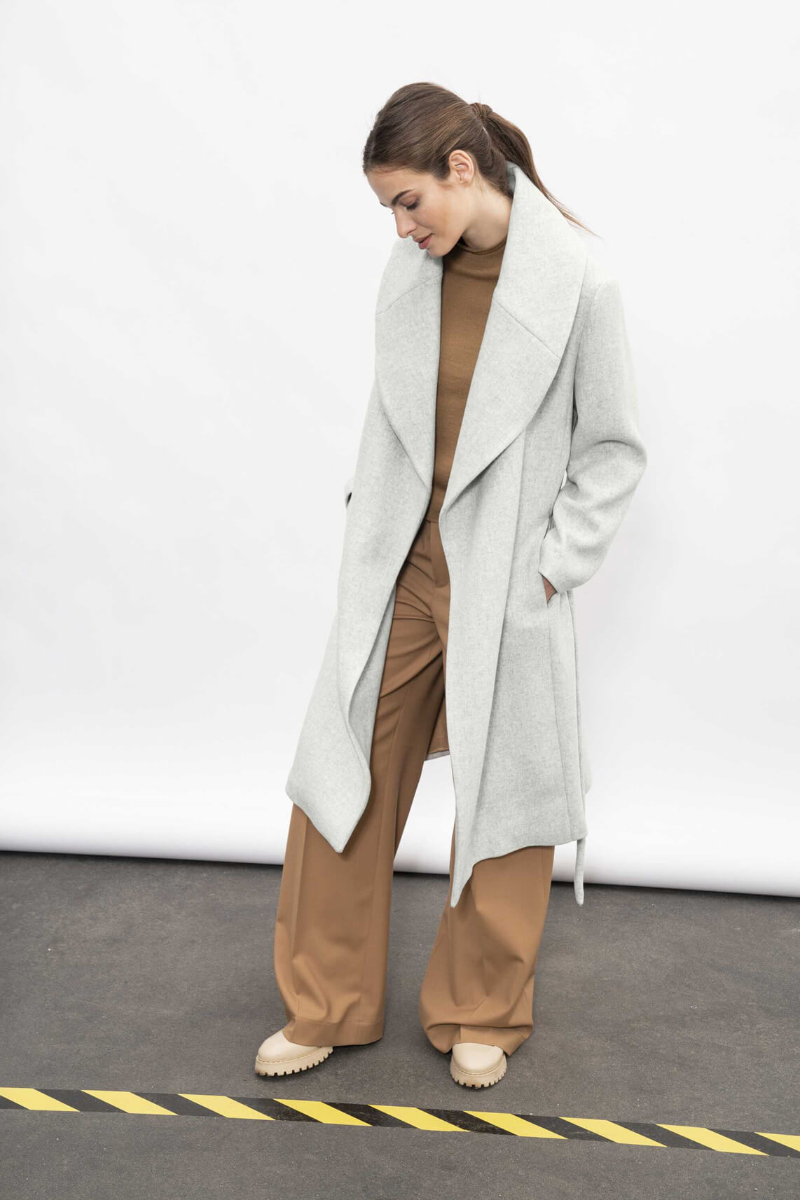 Drykorn Dames Cranbrook mantel Grijs