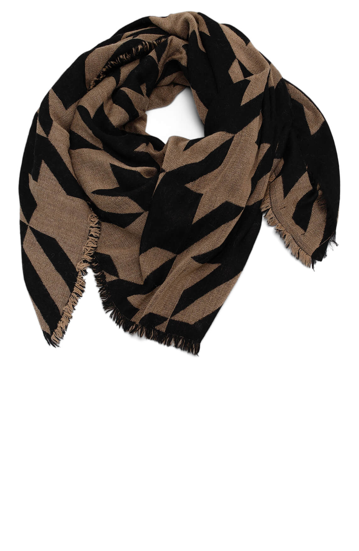 Drykorn Dames Farrahs shawl Bruin