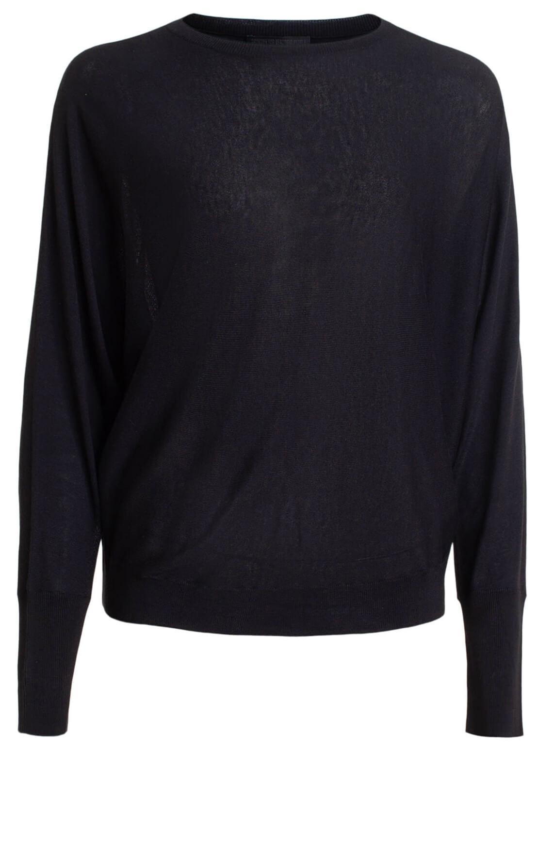 Drykorn Dames Geli zijden pullover zwart