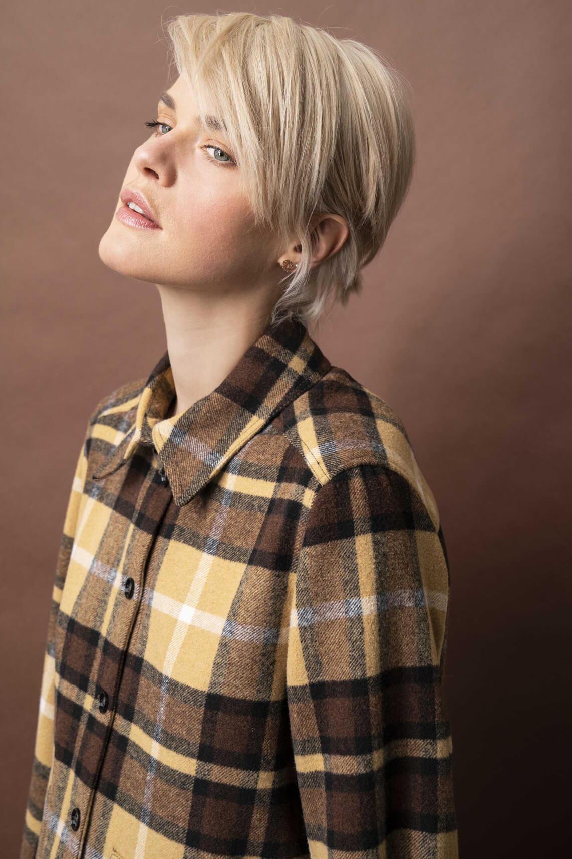 Drykorn Dames Landen geruite blouse Bruin